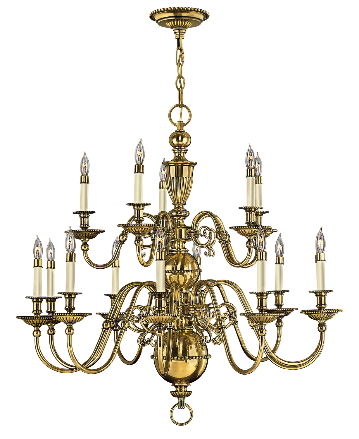 15 Light Foyer Pendant from the Cambridge collection by Hinkley 4417BB