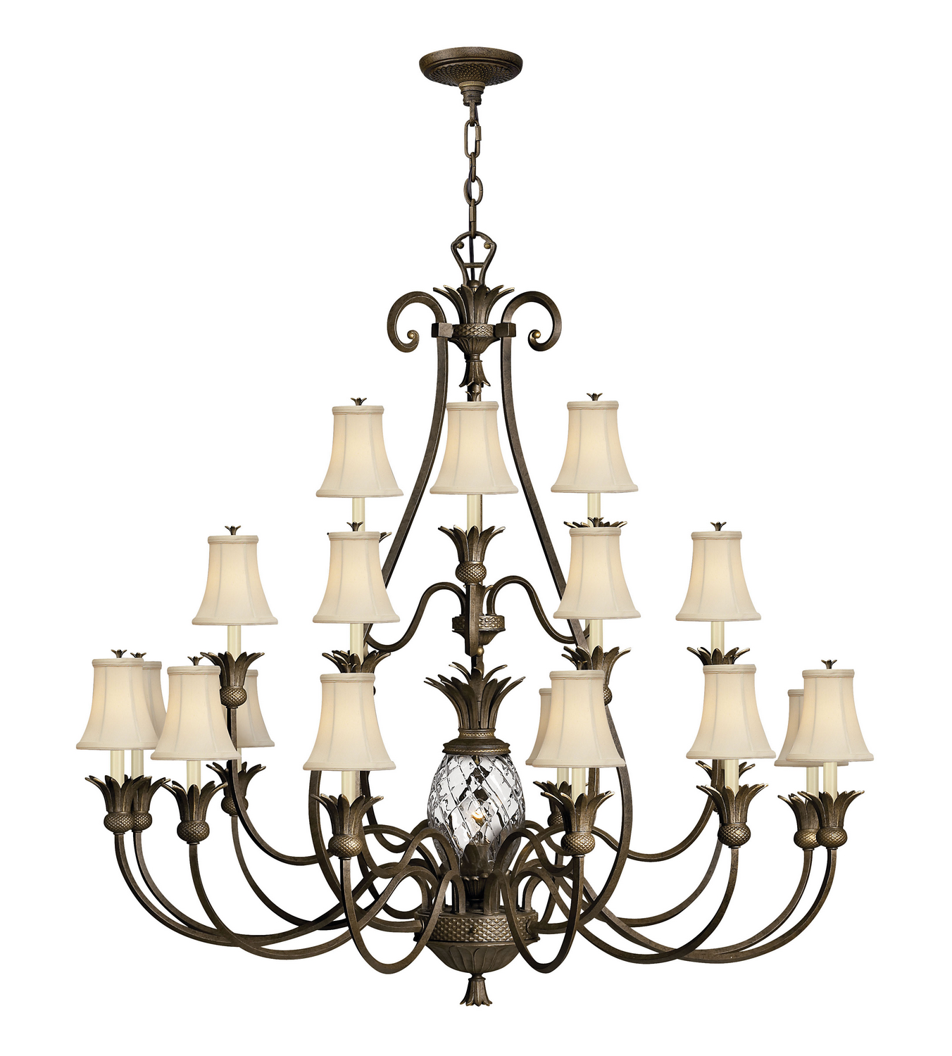22 Light Foyer Pendant from the Plantation collection by Hinkley 4889PZ