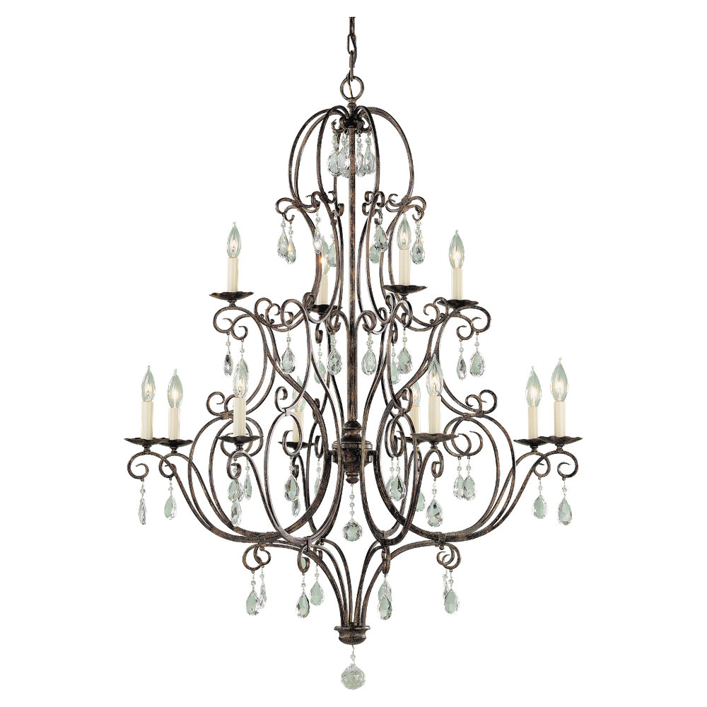 12 Light Chandelier from the Chateau collection by Feiss F193884MBZ