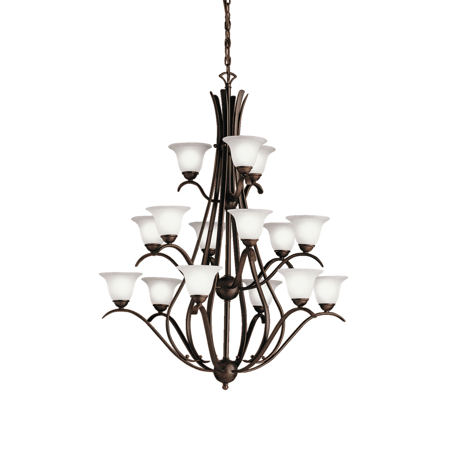 15 Light Chandelier from the Dover collection by Kichler 2523TZ