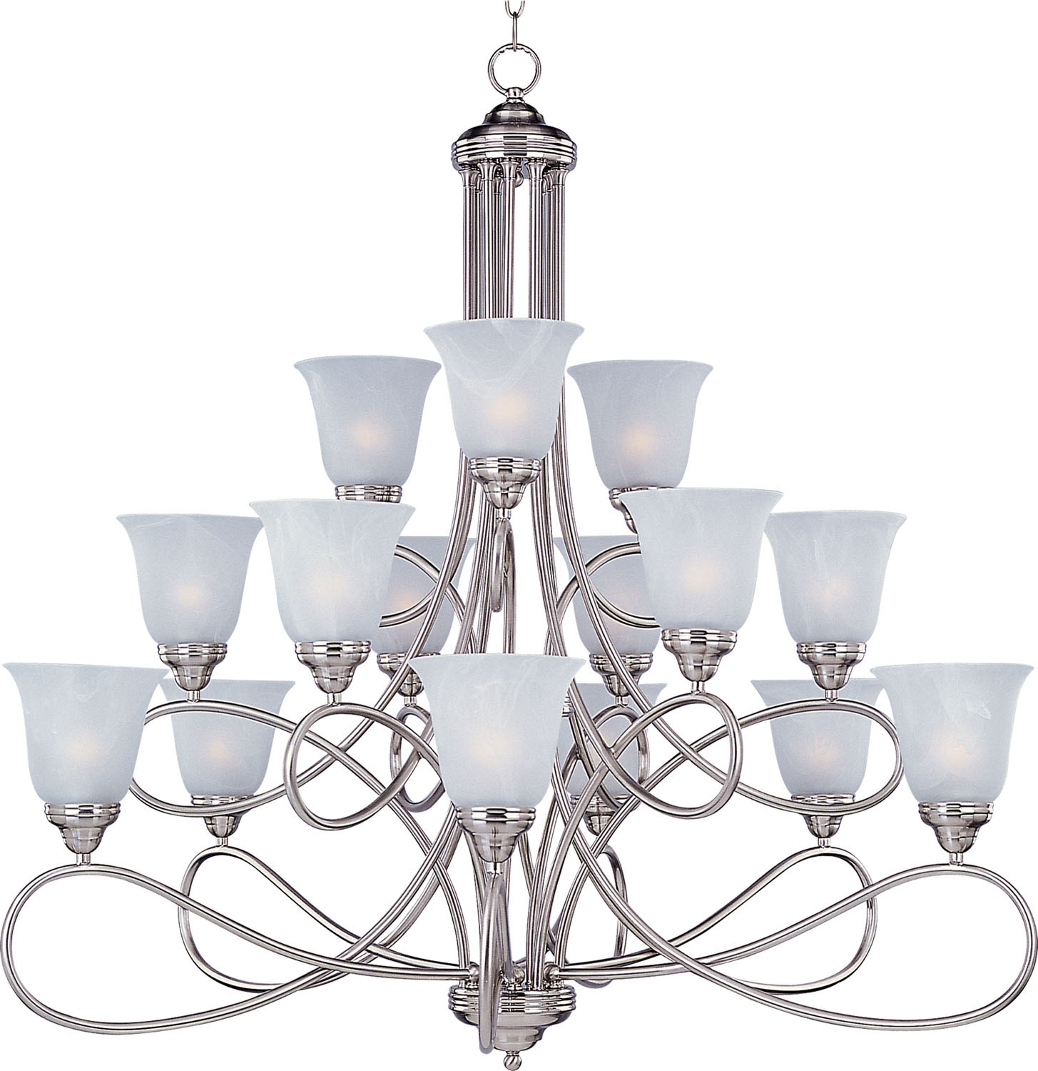 15 Light Chandelier from the Nova collection by Maxim 11045MRSN