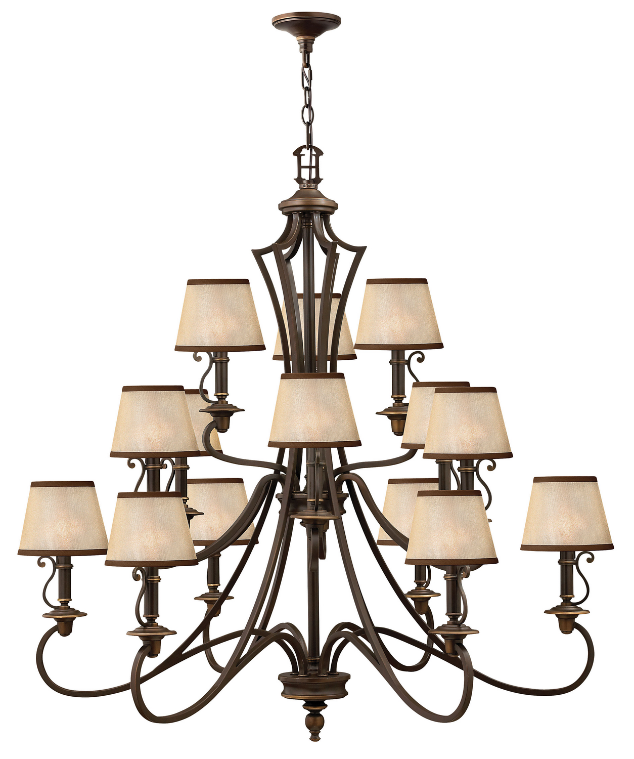 15 Light Foyer Pendant from the Plymouth collection by Hinkley 4249OB