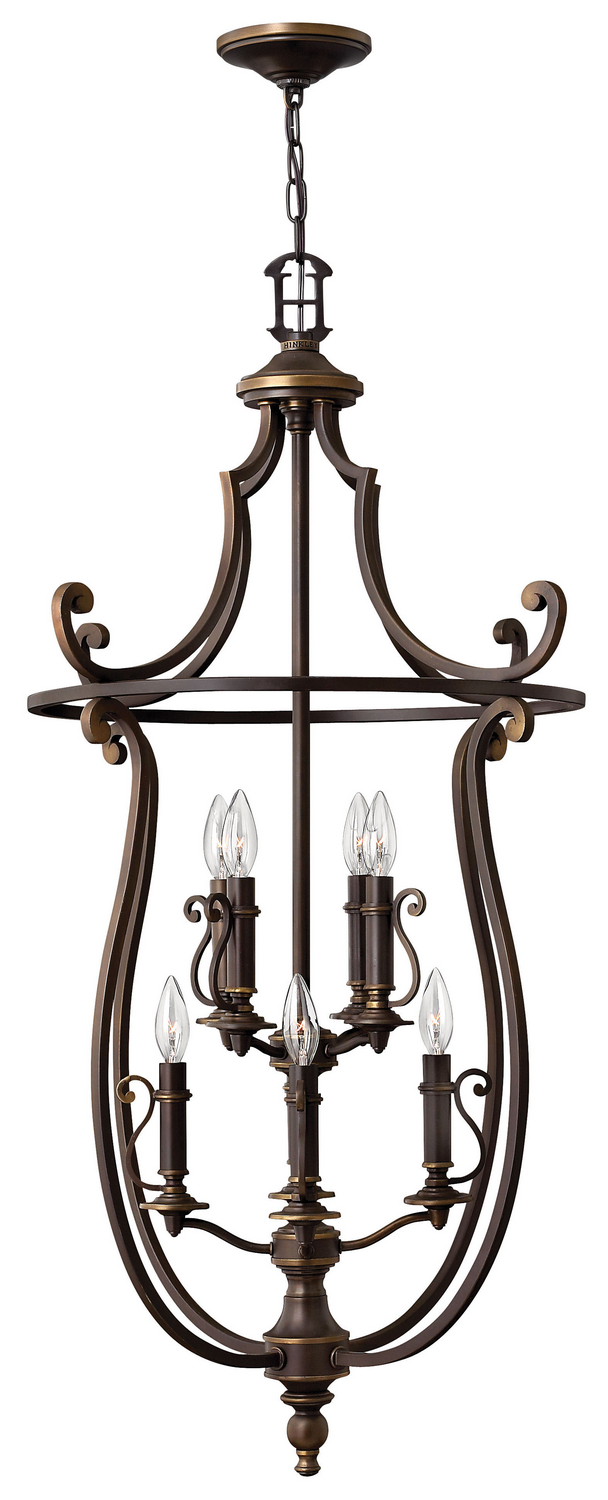 Eight Light Foyer Pendant from the Plymouth collection by Hinkley 4258OB