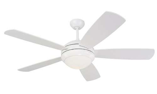 52 inchCeiling Fan from the Discus collection by Monte Carlo 5DI52WHD L