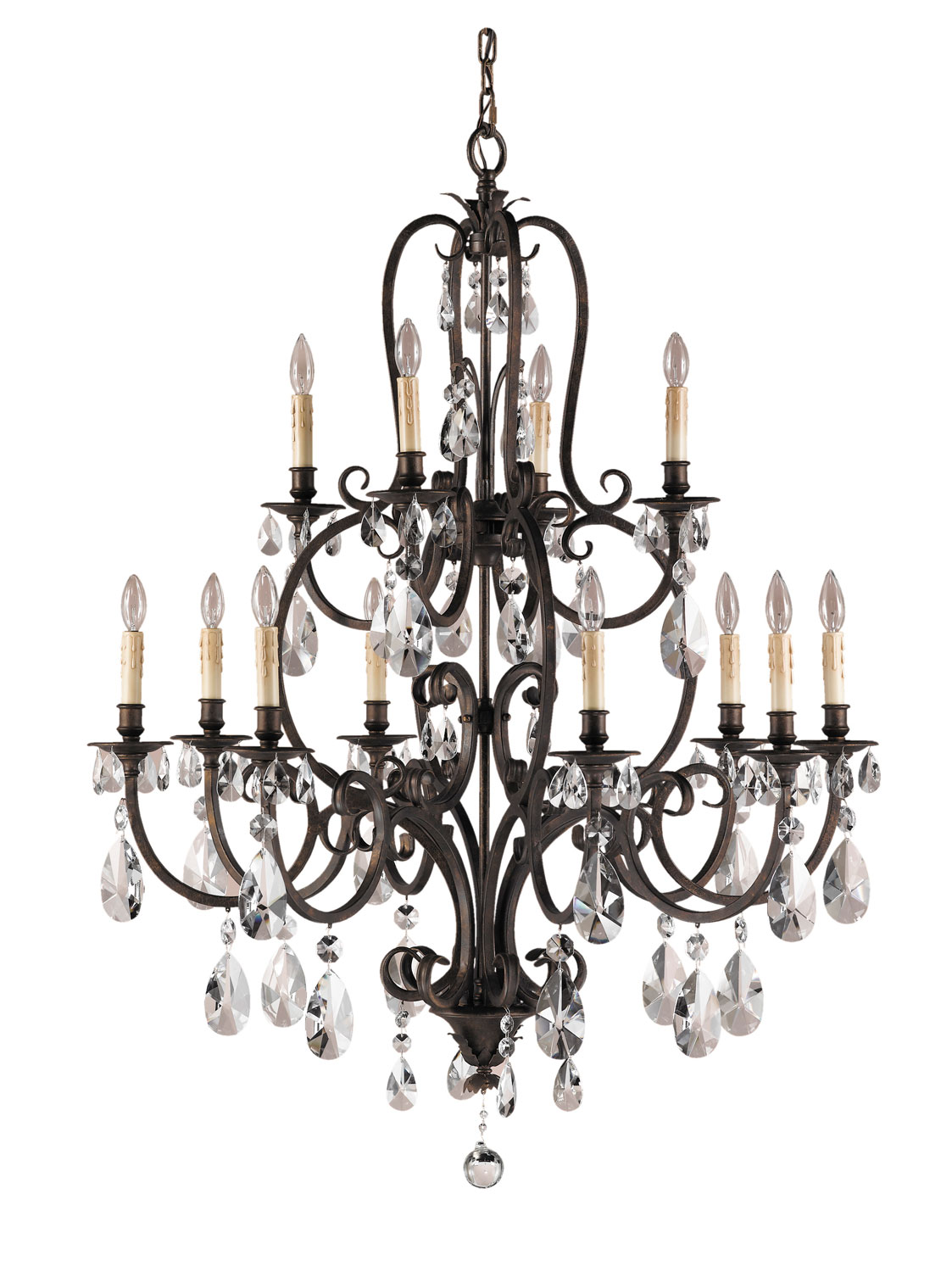 12 Light Chandelier from the Salon Maison collection by Feiss F222984ATS