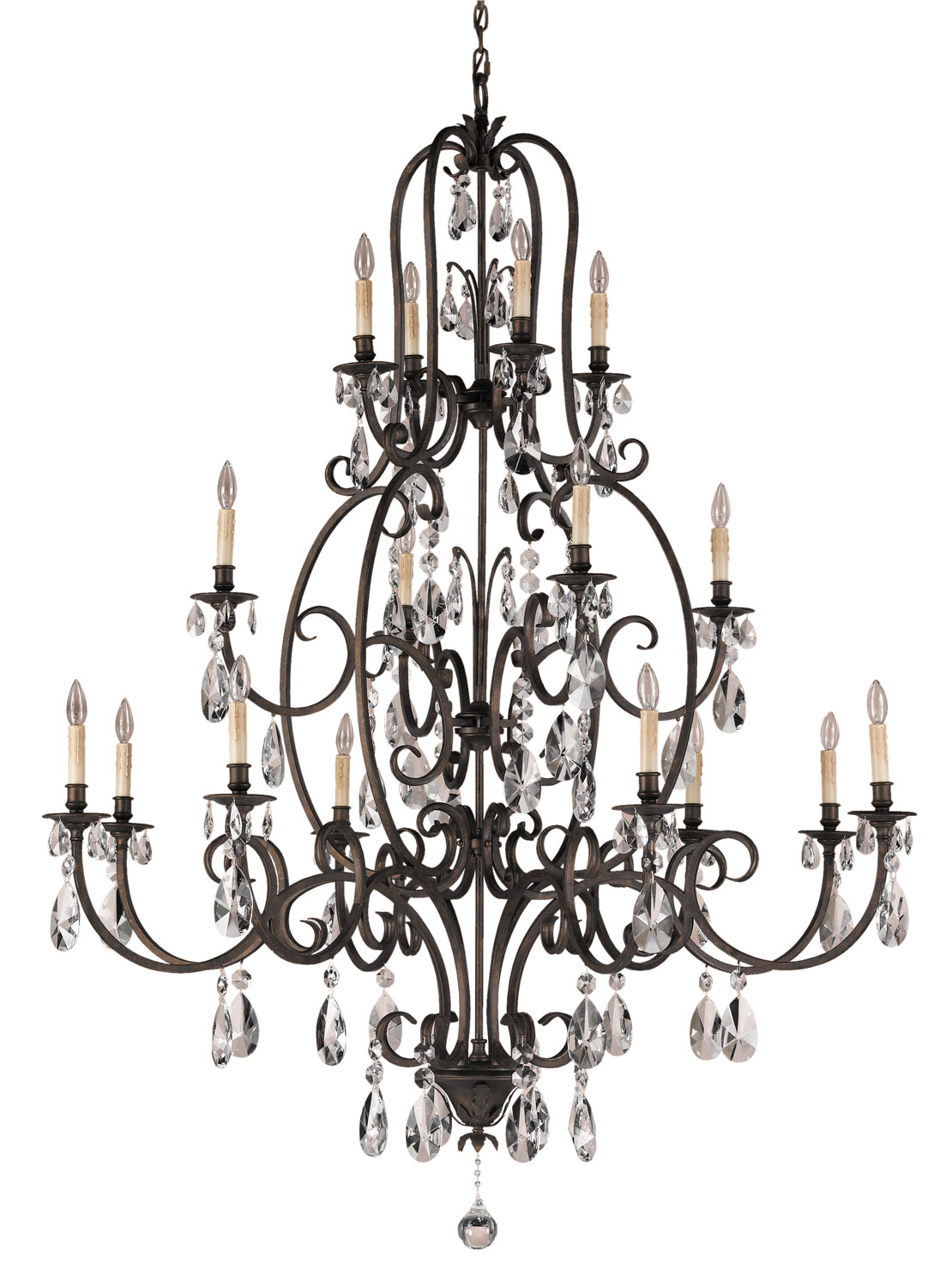 16 Light Chandelier from the Salon Maison collection by Feiss F2230844ATS