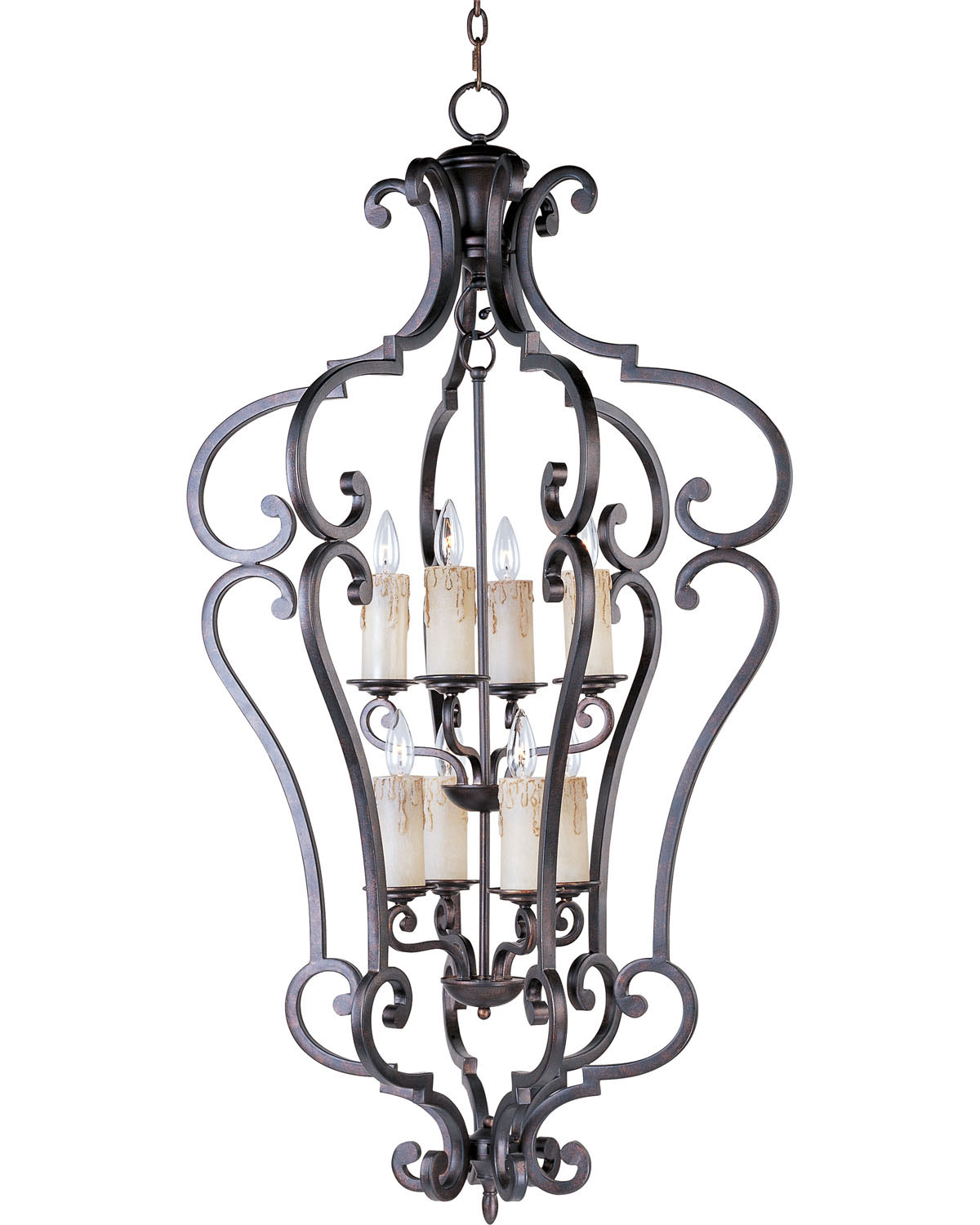 Eight Light Entry Foyer Pendant from the Richmond collection by Maxim 20744CU