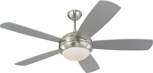 52 inchCeiling Fan from the Discus collection by Monte Carlo 5DI52BSD L