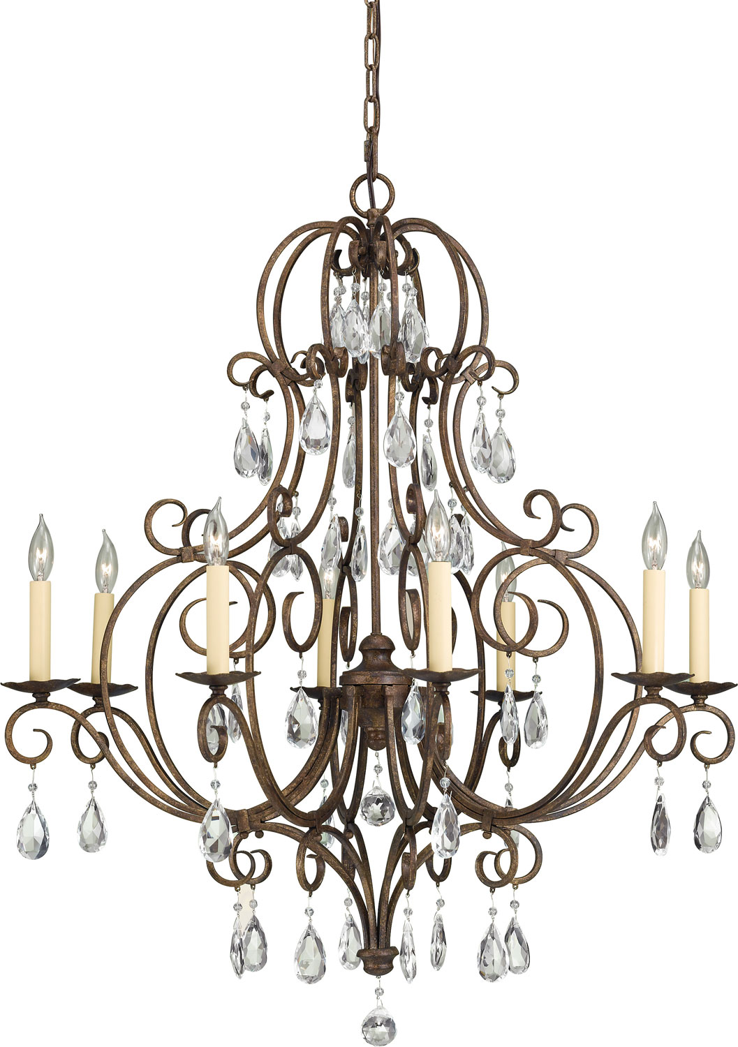 Eight Light Chandelier from the Chateau collection by Feiss F23038MBZ