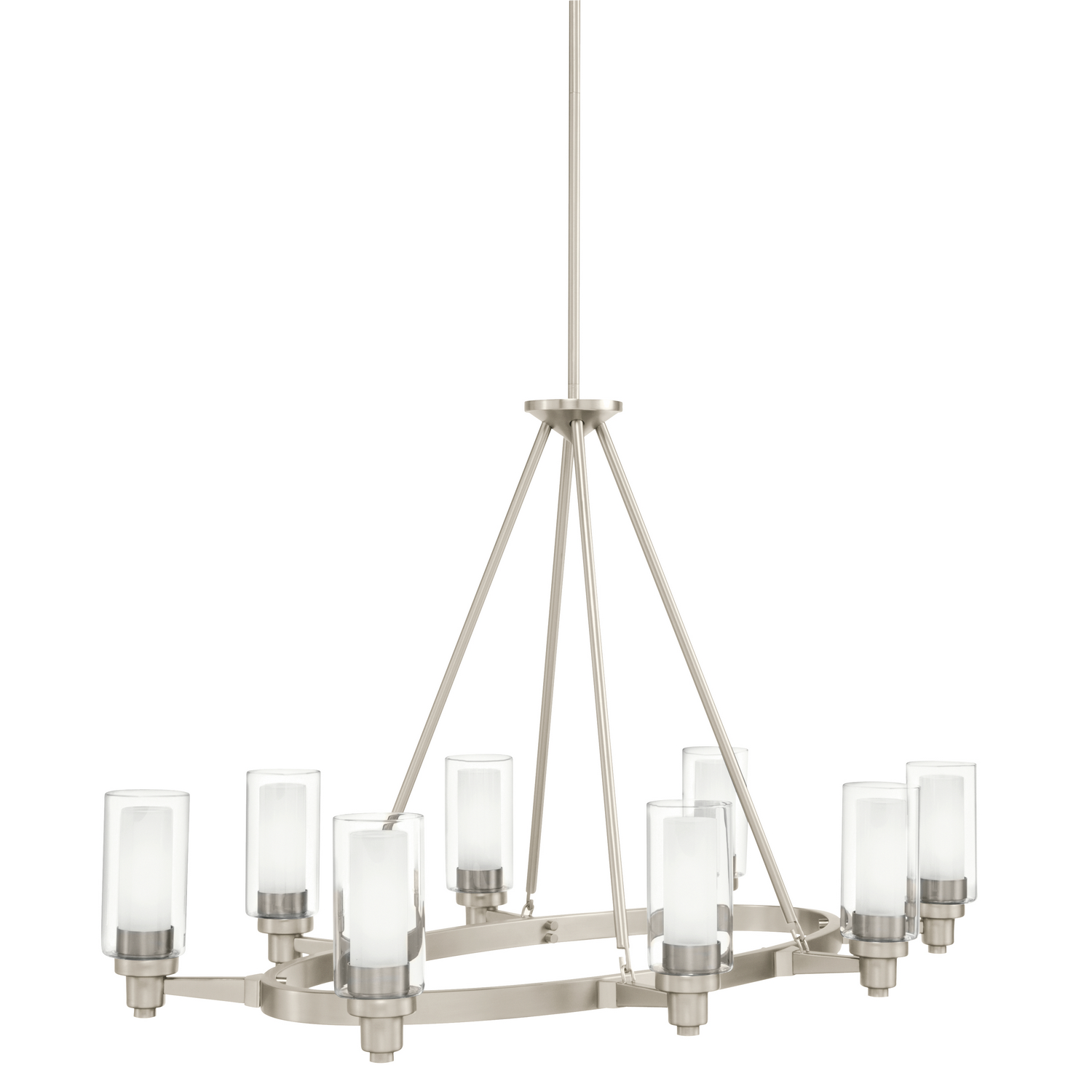 Eight Light Chandelier from the Circolo collection by Kichler 2345NI