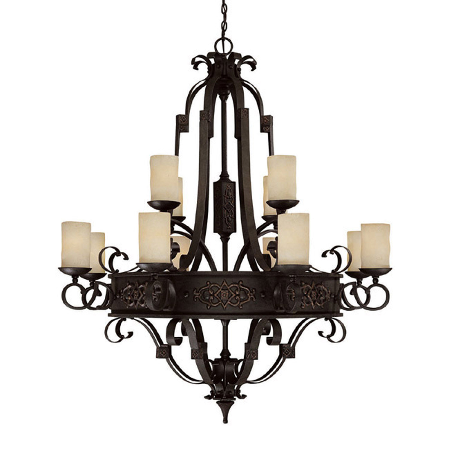 12 Light Chandelier from the River Crest collection by Capital Lighting 3602RI 125