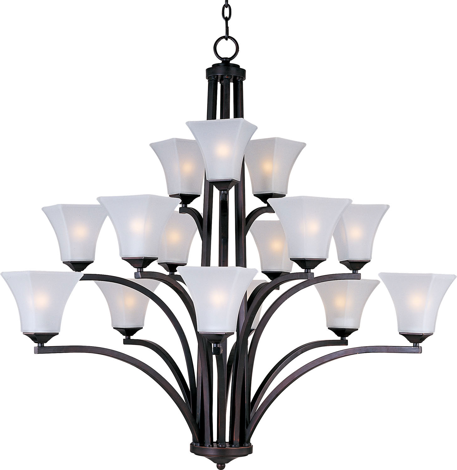 15 Light Chandelier from the Aurora collection by Maxim 20097FTOI