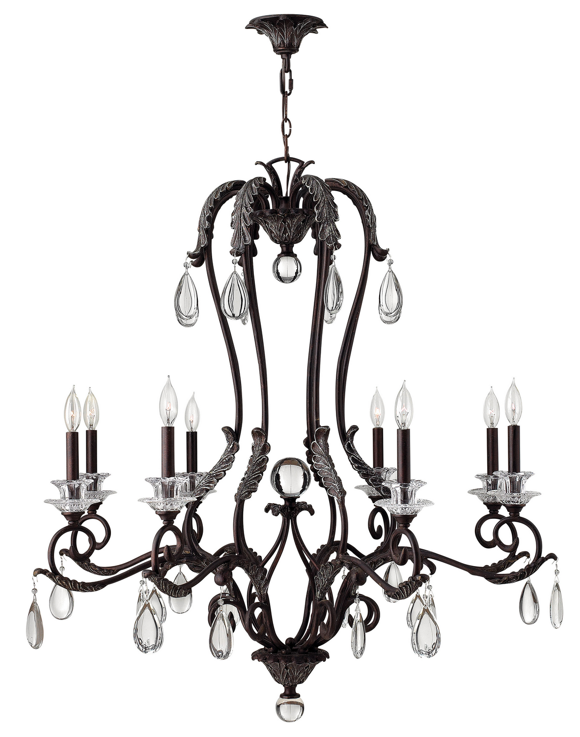 Eight Light Foyer Pendant from the Marcellina collection by Hinkley 4404GR