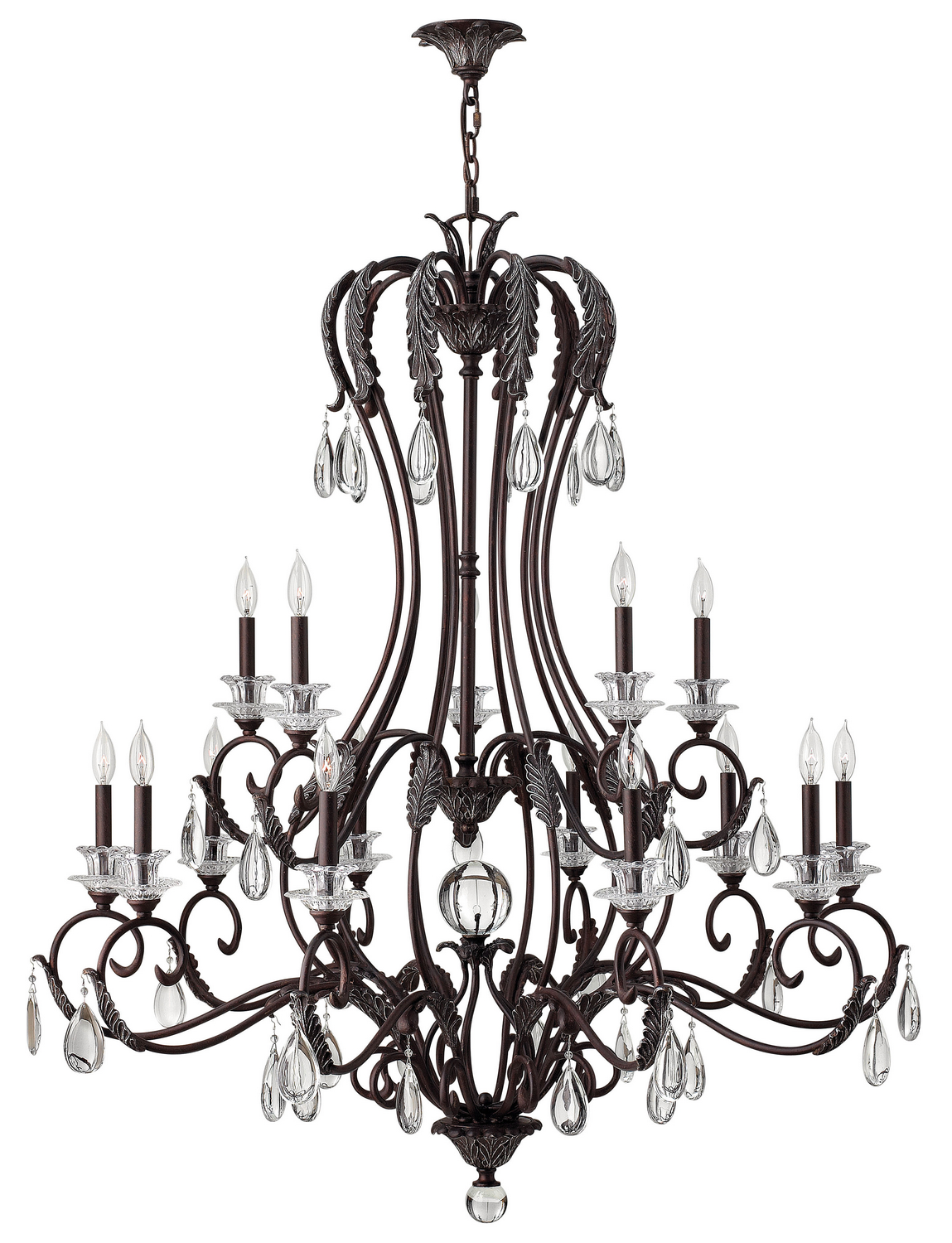 15 Light Foyer Pendant from the Marcellina collection by Hinkley 4408GR