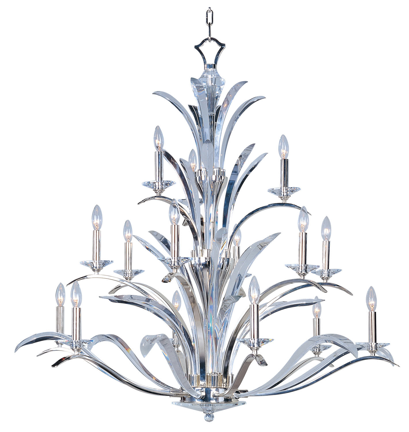 15 Light Chandelier from the Paradise collection by Maxim 39947BCPS