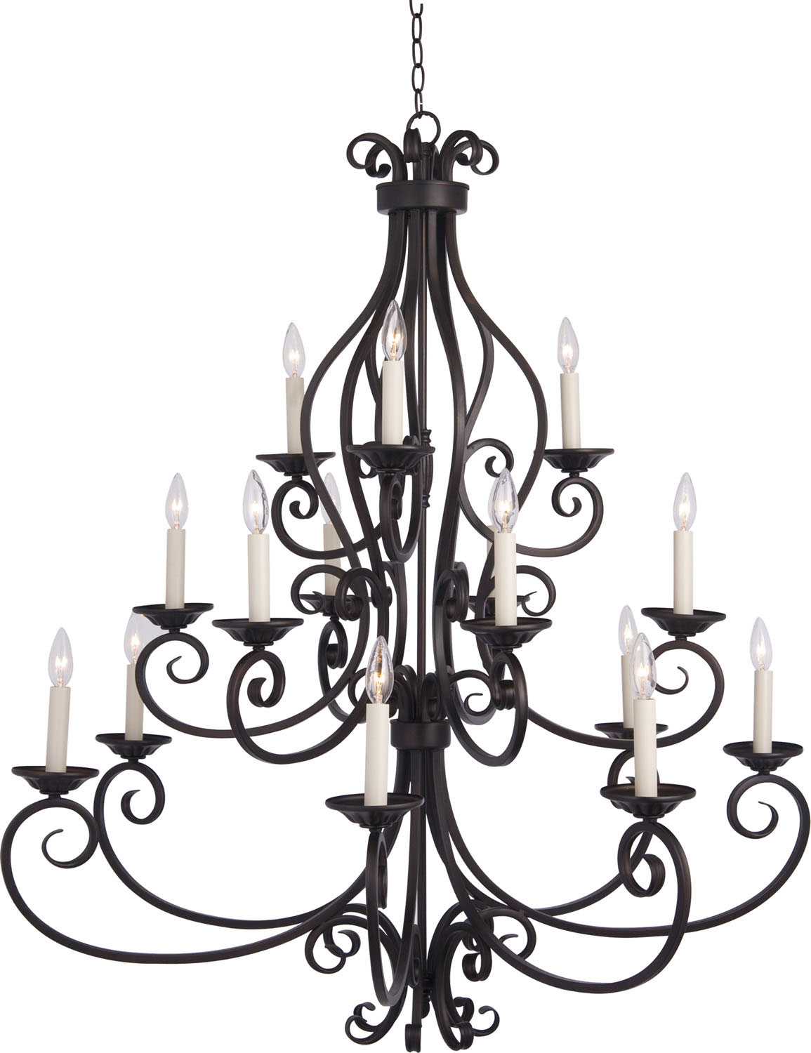 15 Light Chandelier from the Manor collection by Maxim 12219OI