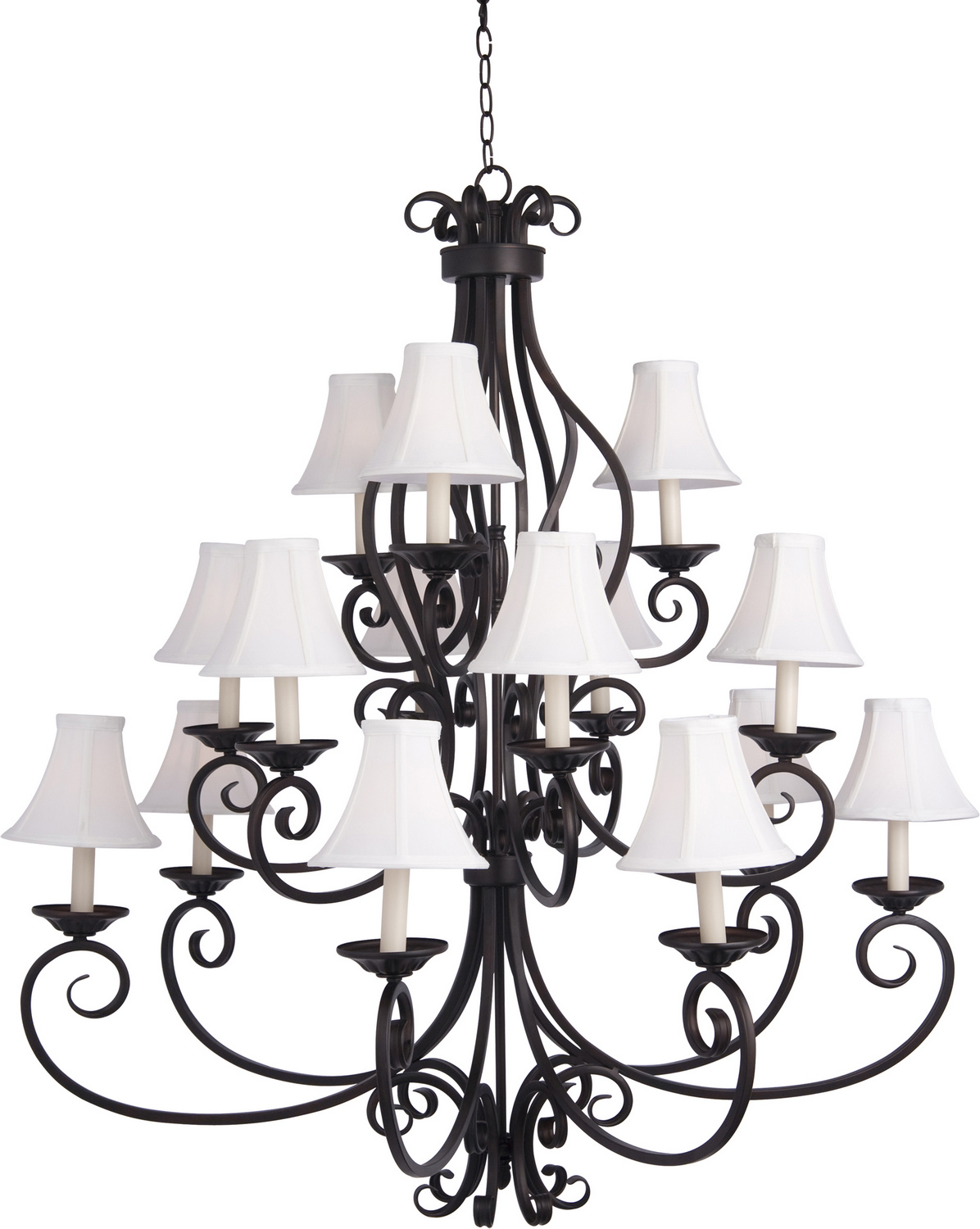 15 Light Chandelier from the Manor collection by Maxim 12219OISHD123