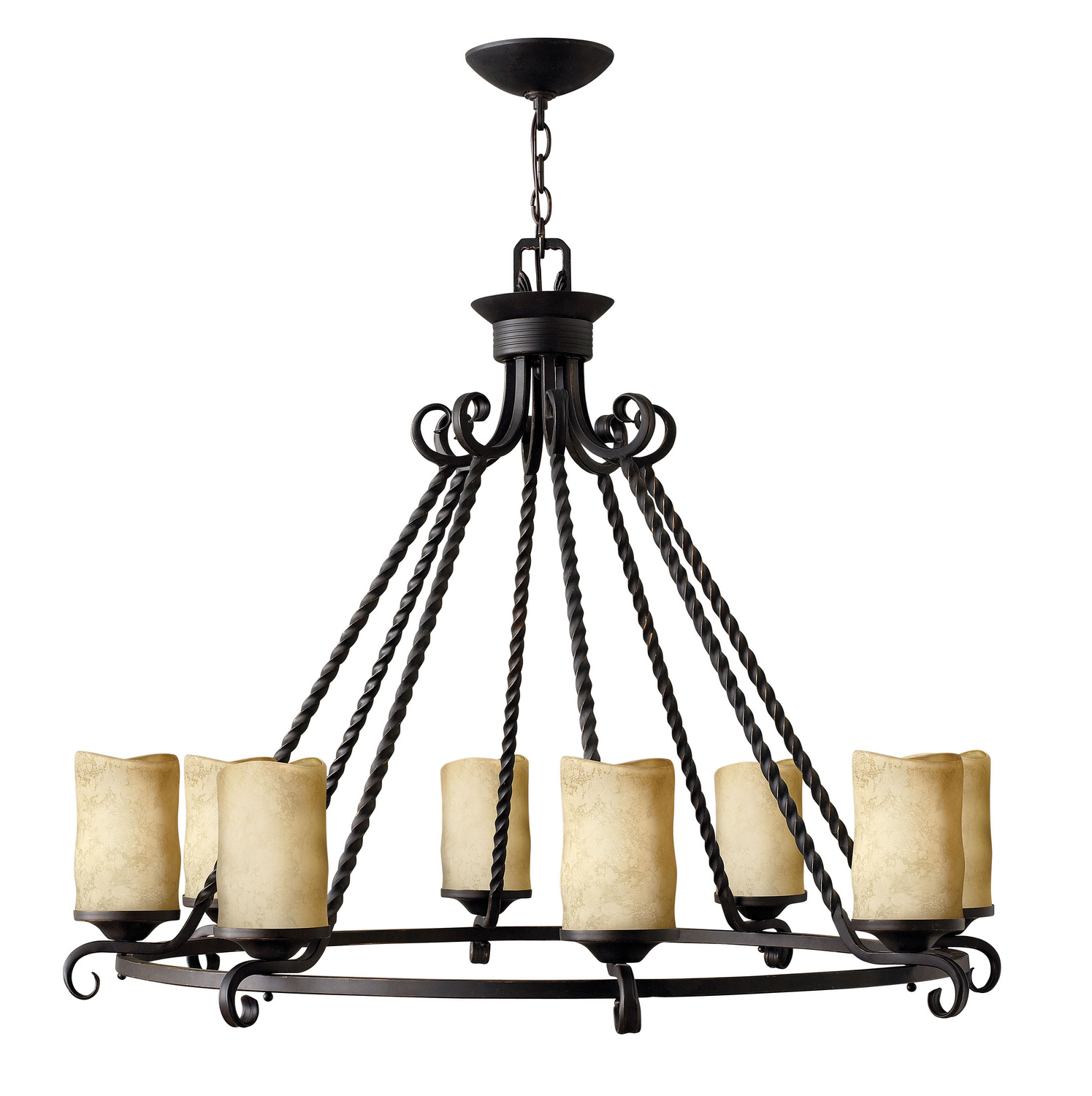 Eight Light Foyer Pendant from the Casa collection by Hinkley 4308OL