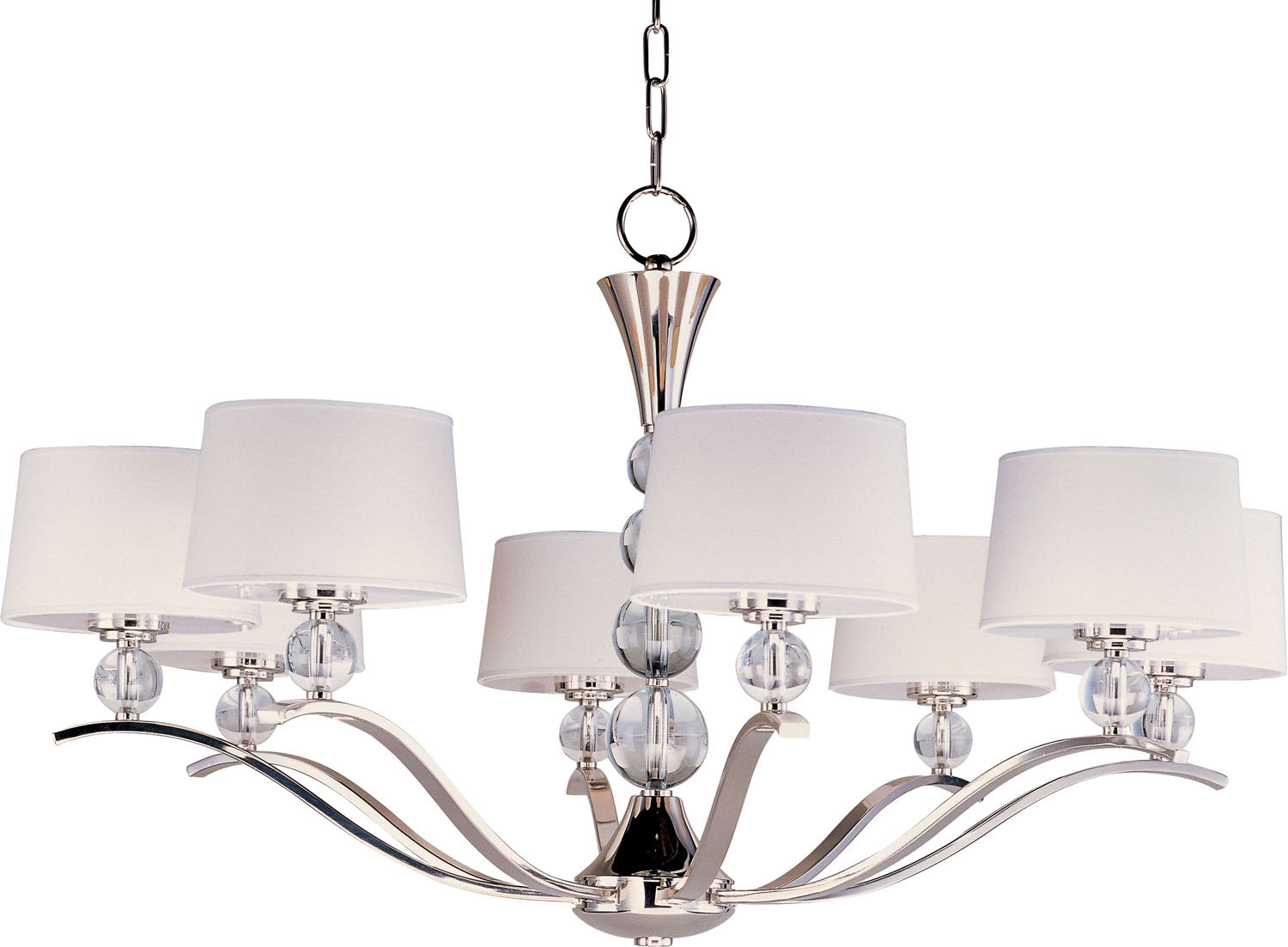Eight Light Chandelier from the Rondo collection by Maxim 12758WTPN
