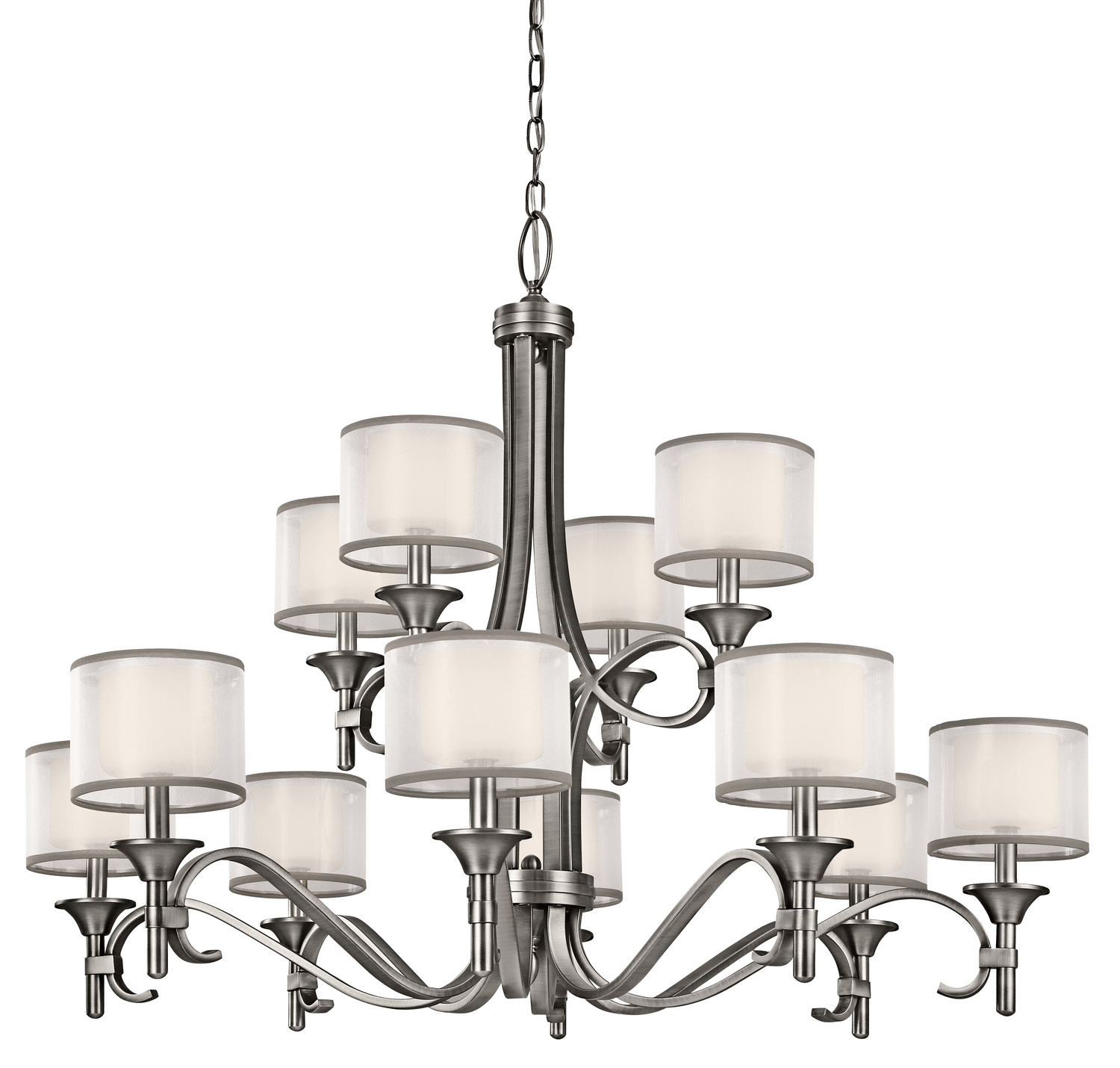12 Light Chandelier from the Lacey collection by Kichler 42383AP