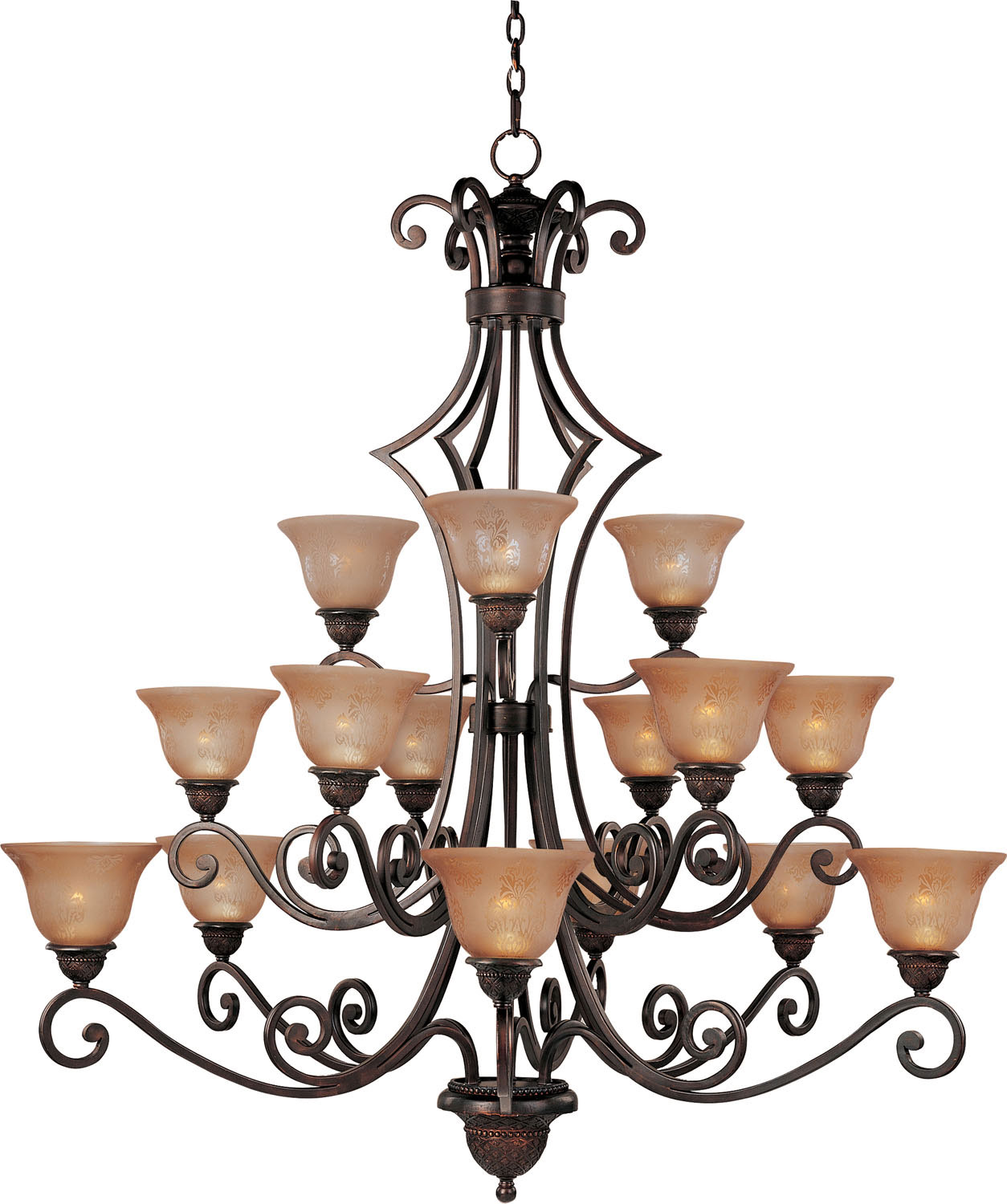 15 Light Chandelier from the Symphony collection by Maxim 11239SAOI