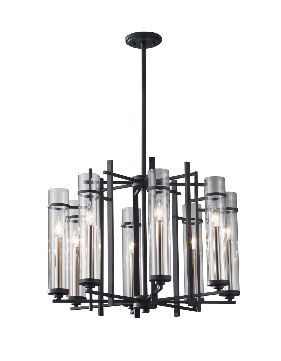 Eight Light Chandelier from the Ethan collection by Feiss F26288AFBS