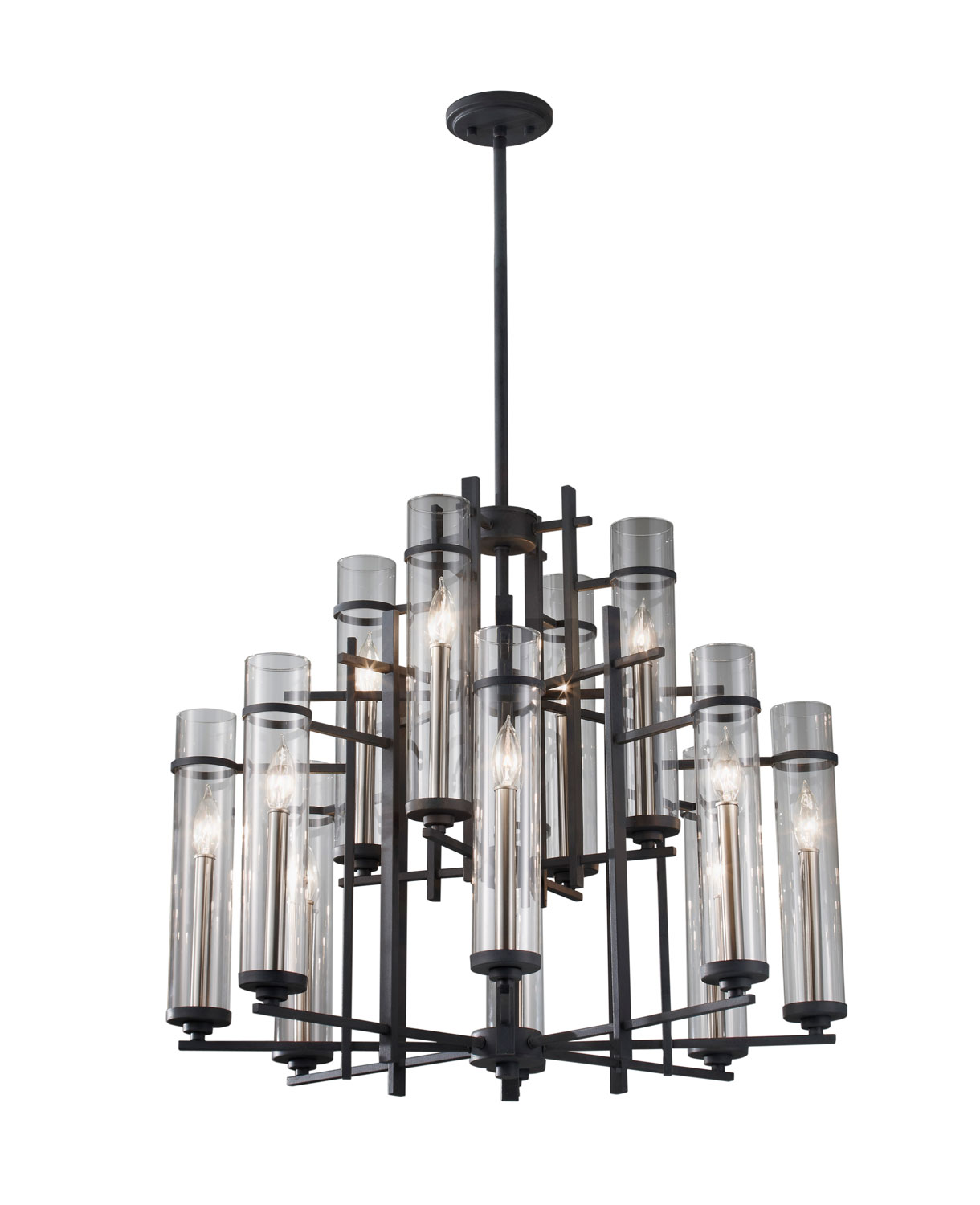 12 Light Chandelier from the Ethan collection by Feiss F262984AFBS