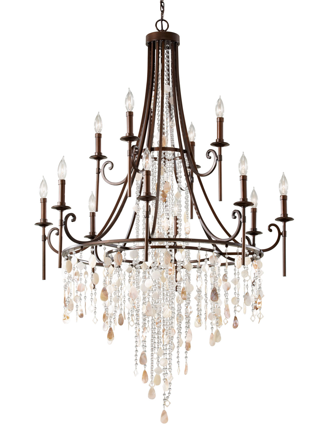 12 Light Chandelier from the Cascade collection by Feiss F266184HTBZ