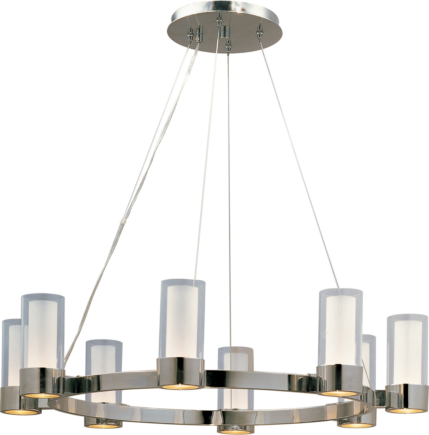 Eight Light Chandelier from the Silo collection by Maxim 23078CLFTPC