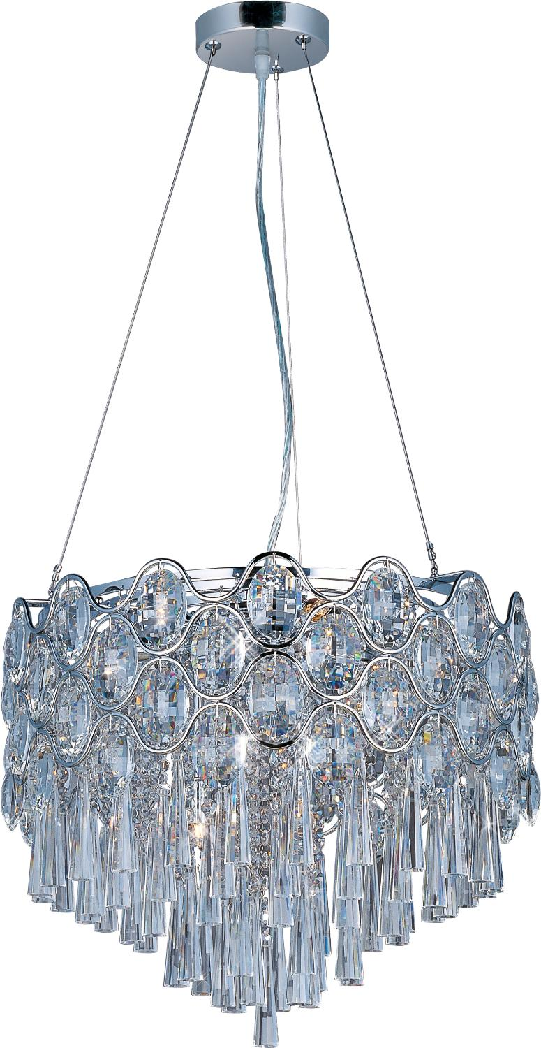 12 Light Pendant from the Jewel collection by Maxim 39924BCPC