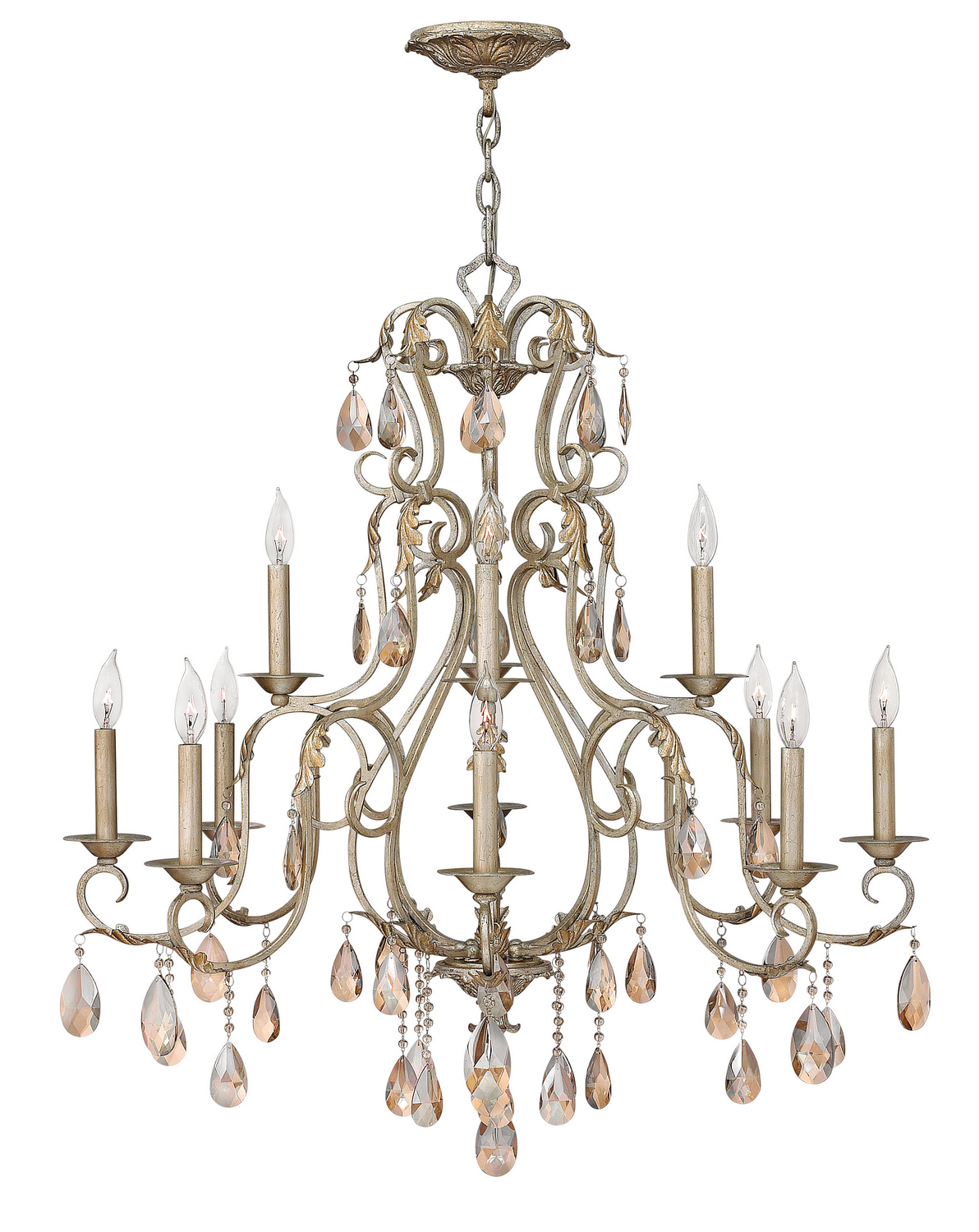 12 Light Foyer Pendant from the Carlton collection by Hinkley 4778SL