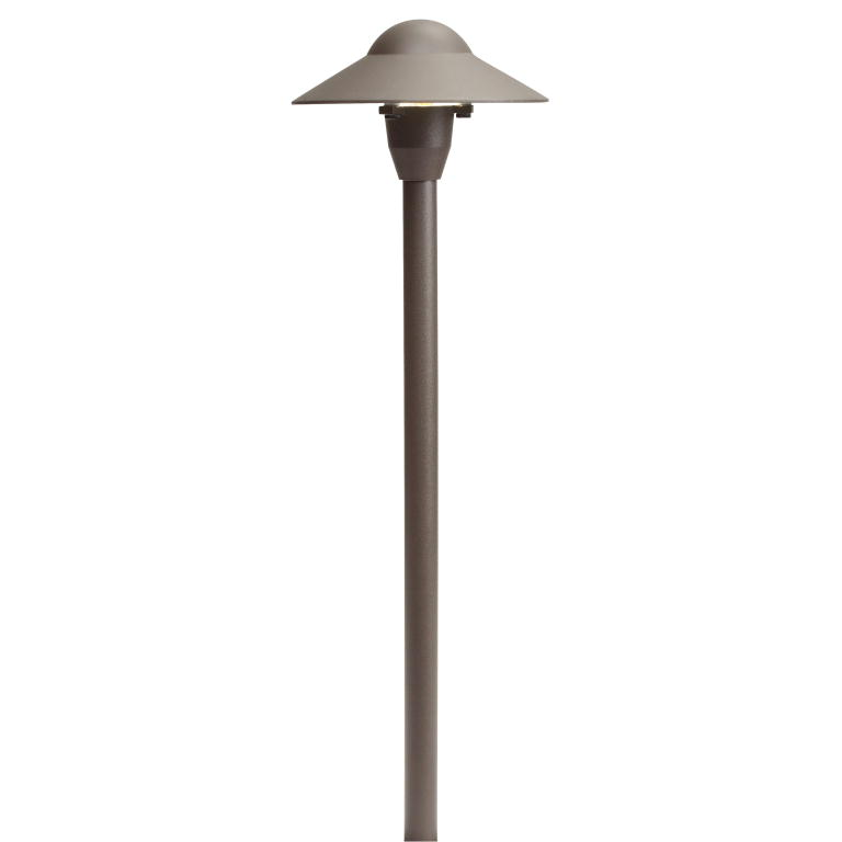 Dome Path Light 6in from the No Family collection by Kichler 15470AZT
