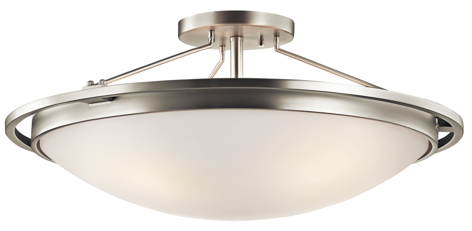 Four Light Semi Flush Mount