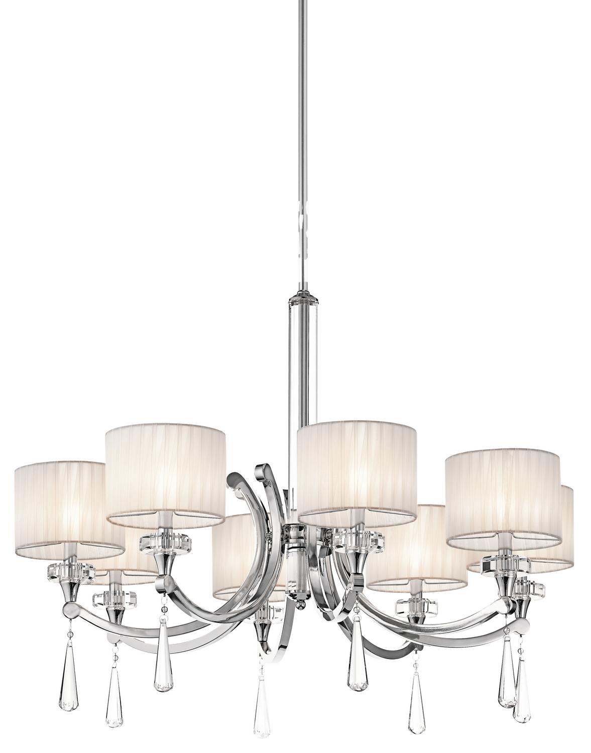 Eight Light Chandelier from the Parker Point collection by Kichler 42632CH