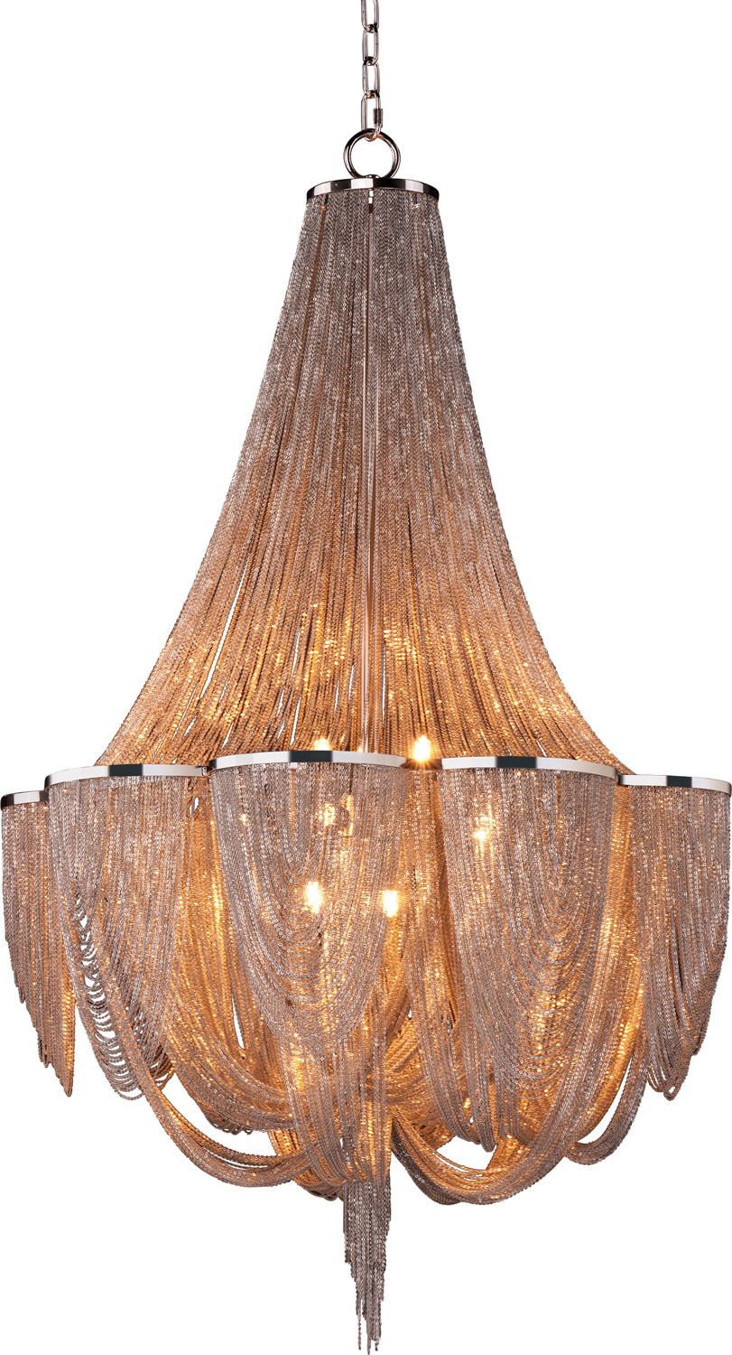 12 Light Chandelier from the Chantilly collection by Maxim 21466NKPN