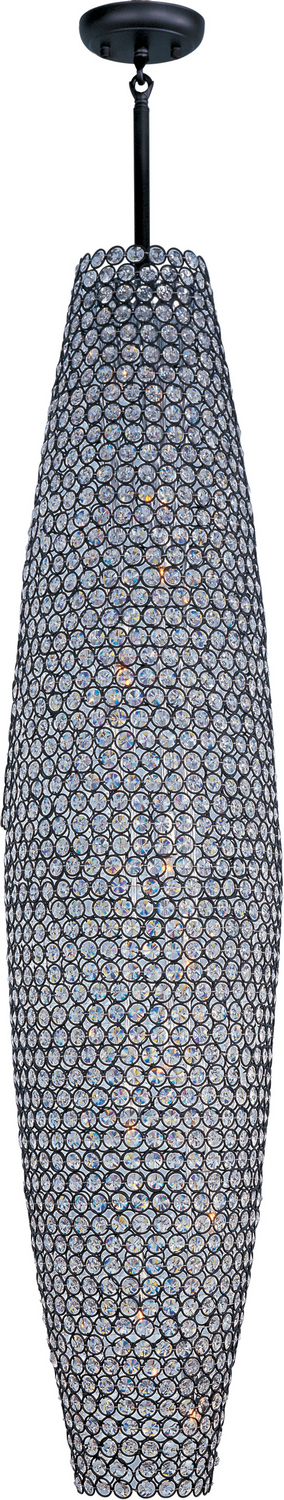 12 Light Pendant from the Glimmer collection by Maxim 39884BCBZ