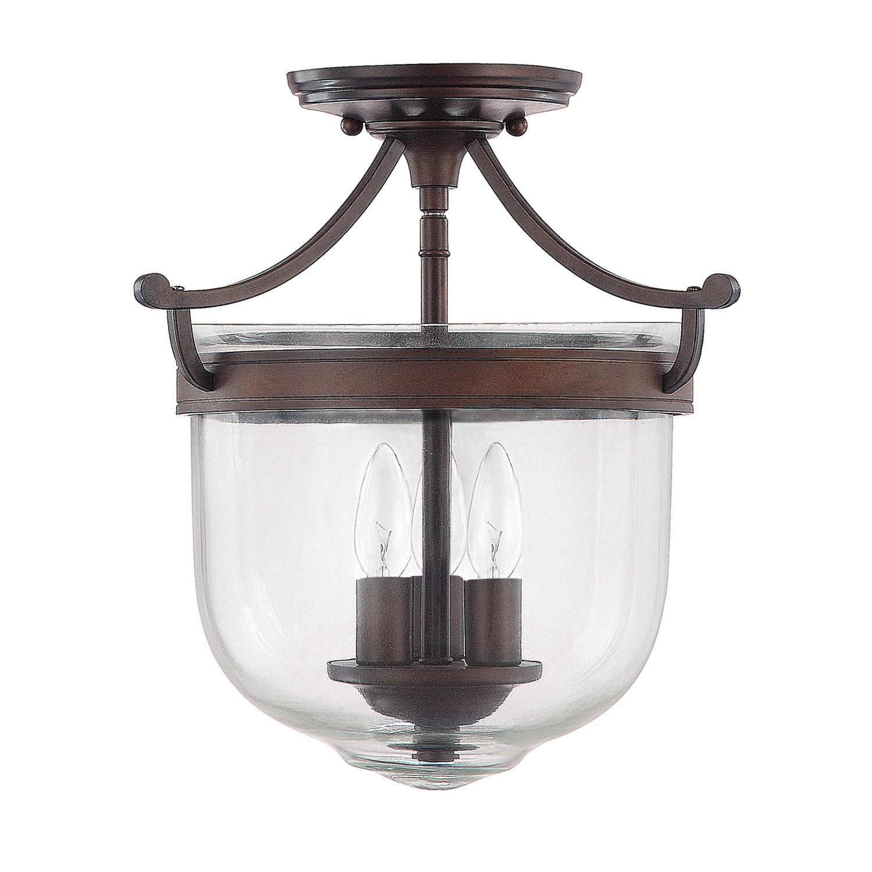 Three Light Semi-Flush Fixture