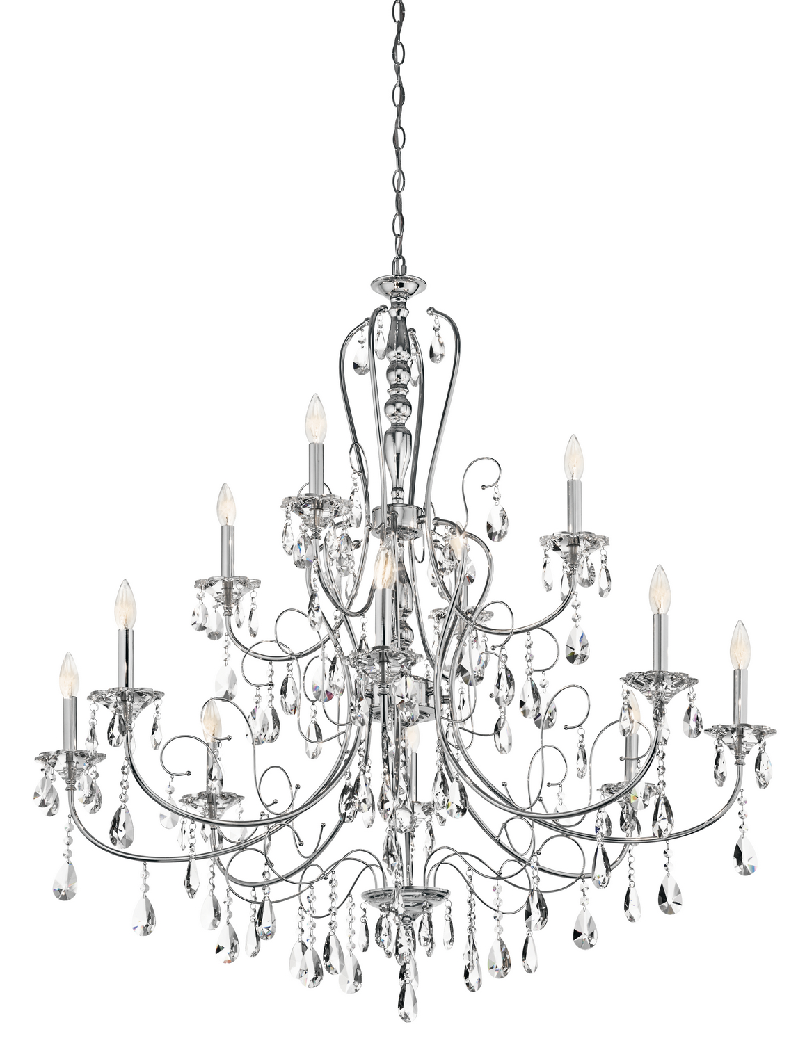 12 Light Chandelier from the Jules collection by Kichler 43124CH