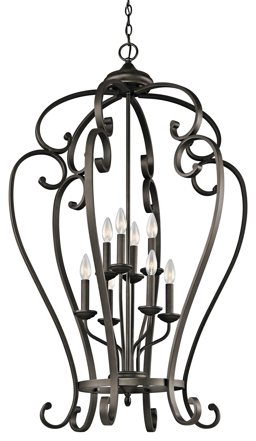 Eight Light Foyer Chandelier from the Monroe collection by Kichler 43167OZ