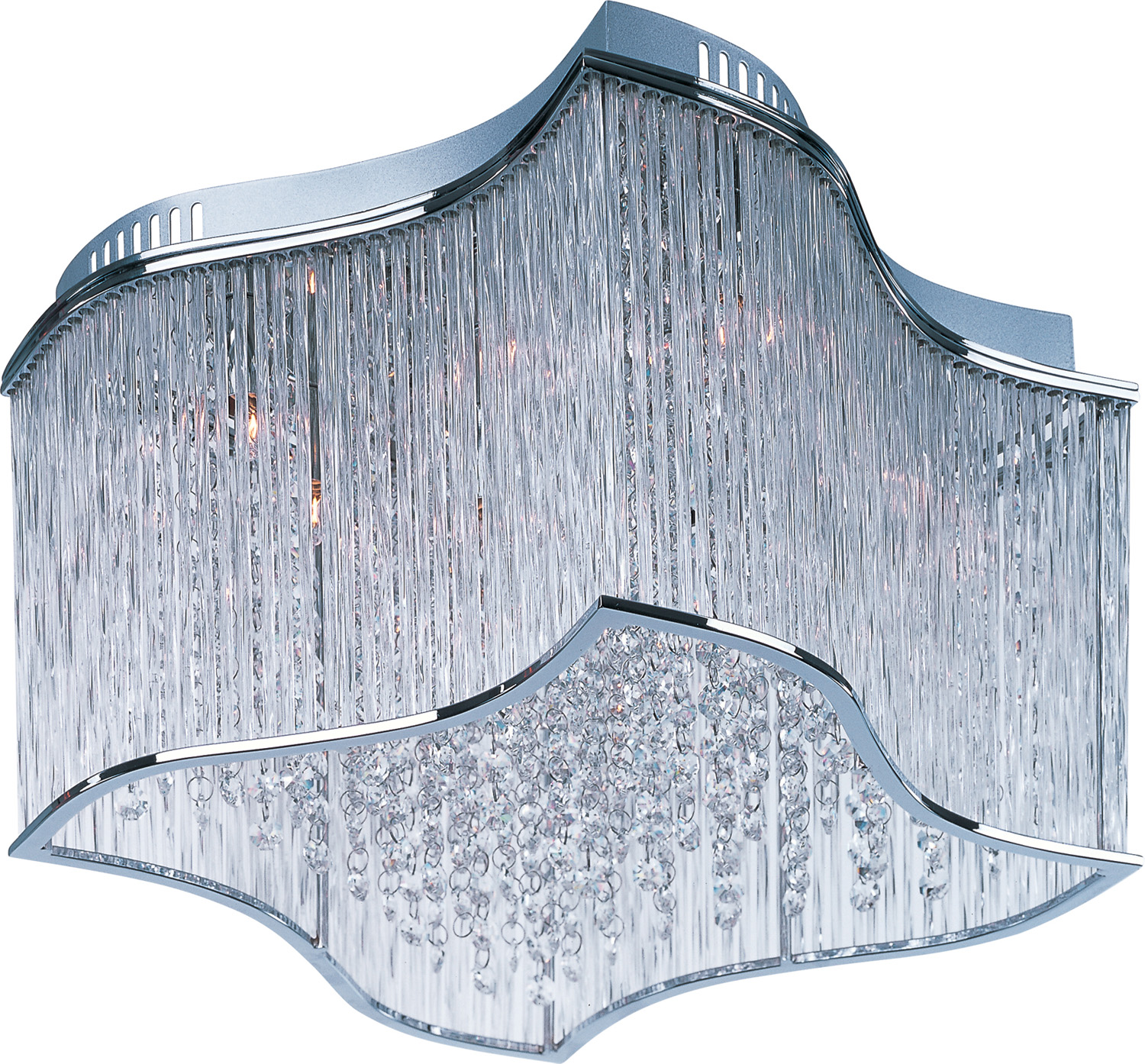 12 Light Flush Mount from the Swizzle collection by Maxim 39700CLPC