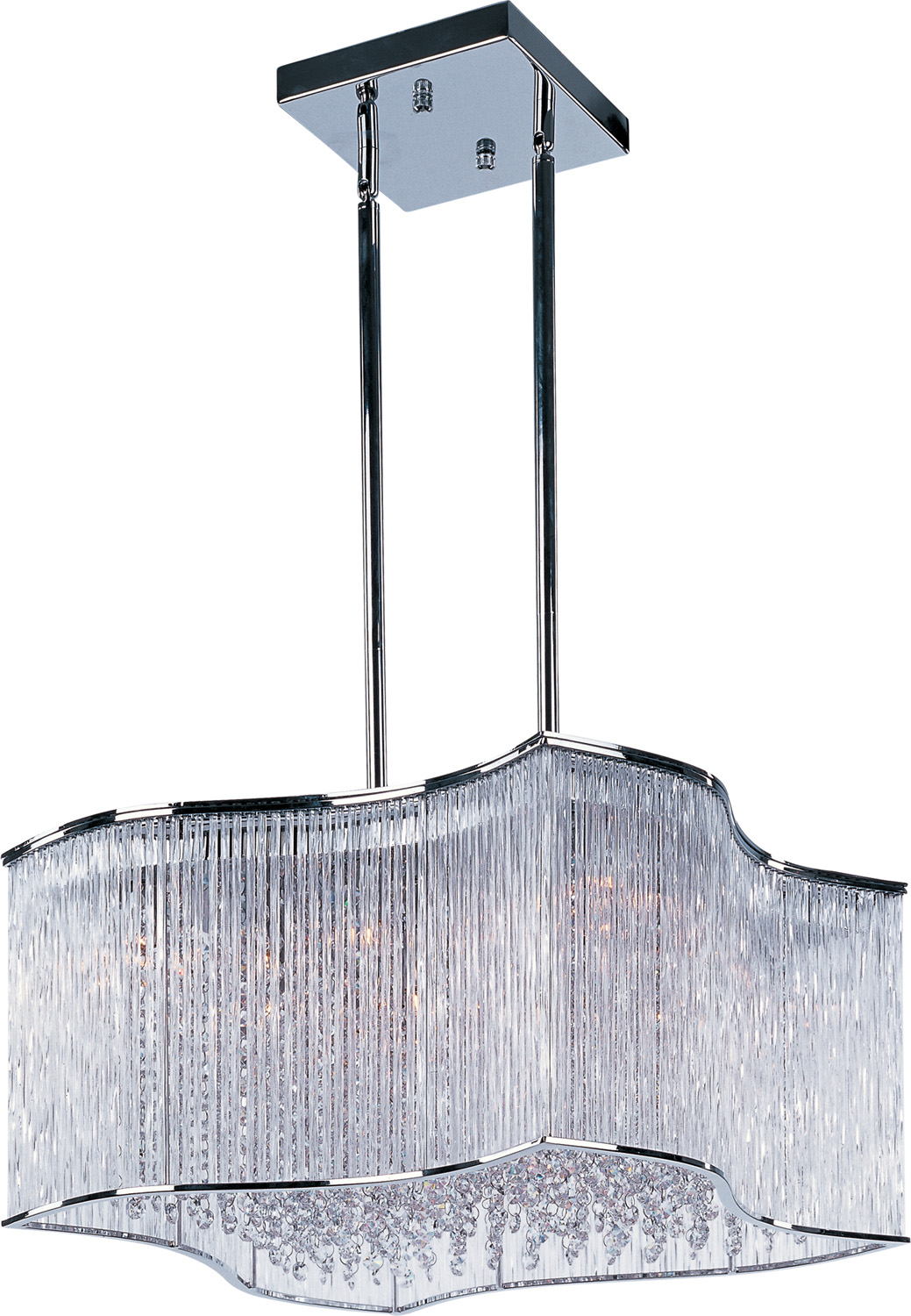 20 Light Pendant from the Swizzle collection by Maxim 39705CLPC