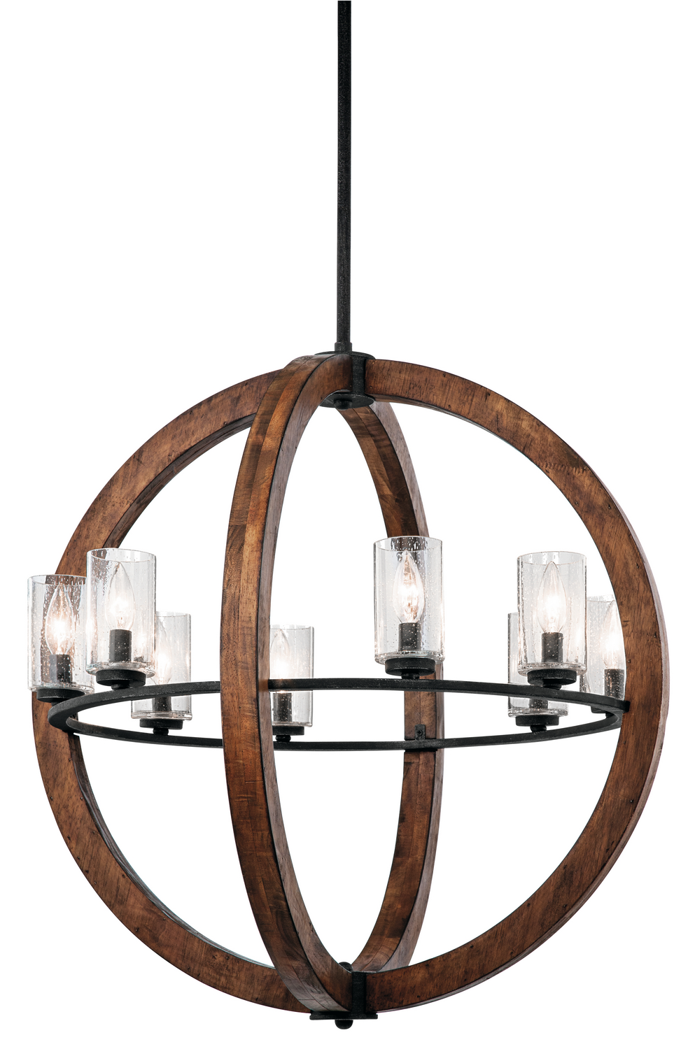 Eight Light Chandelier from the Grand Bank collection by Kichler 43190AUB