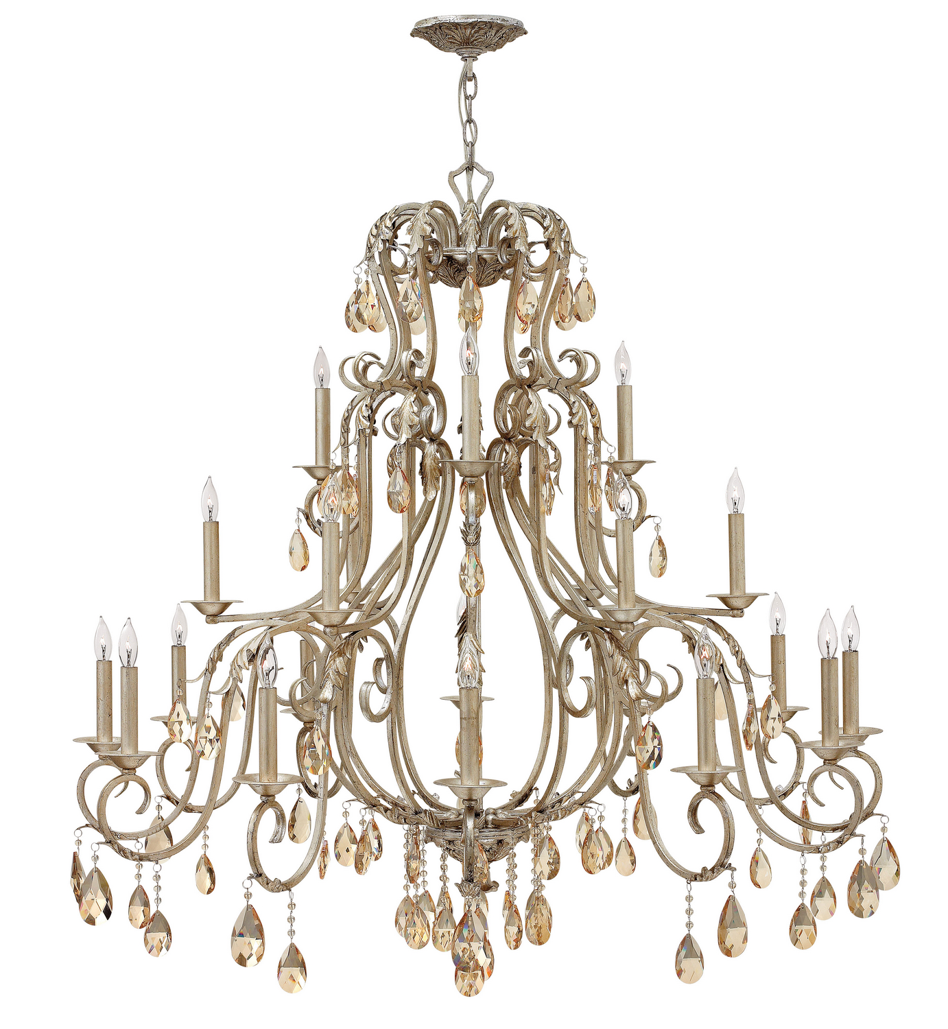 21 Light Foyer Pendant from the Carlton collection by Hinkley 4779SL