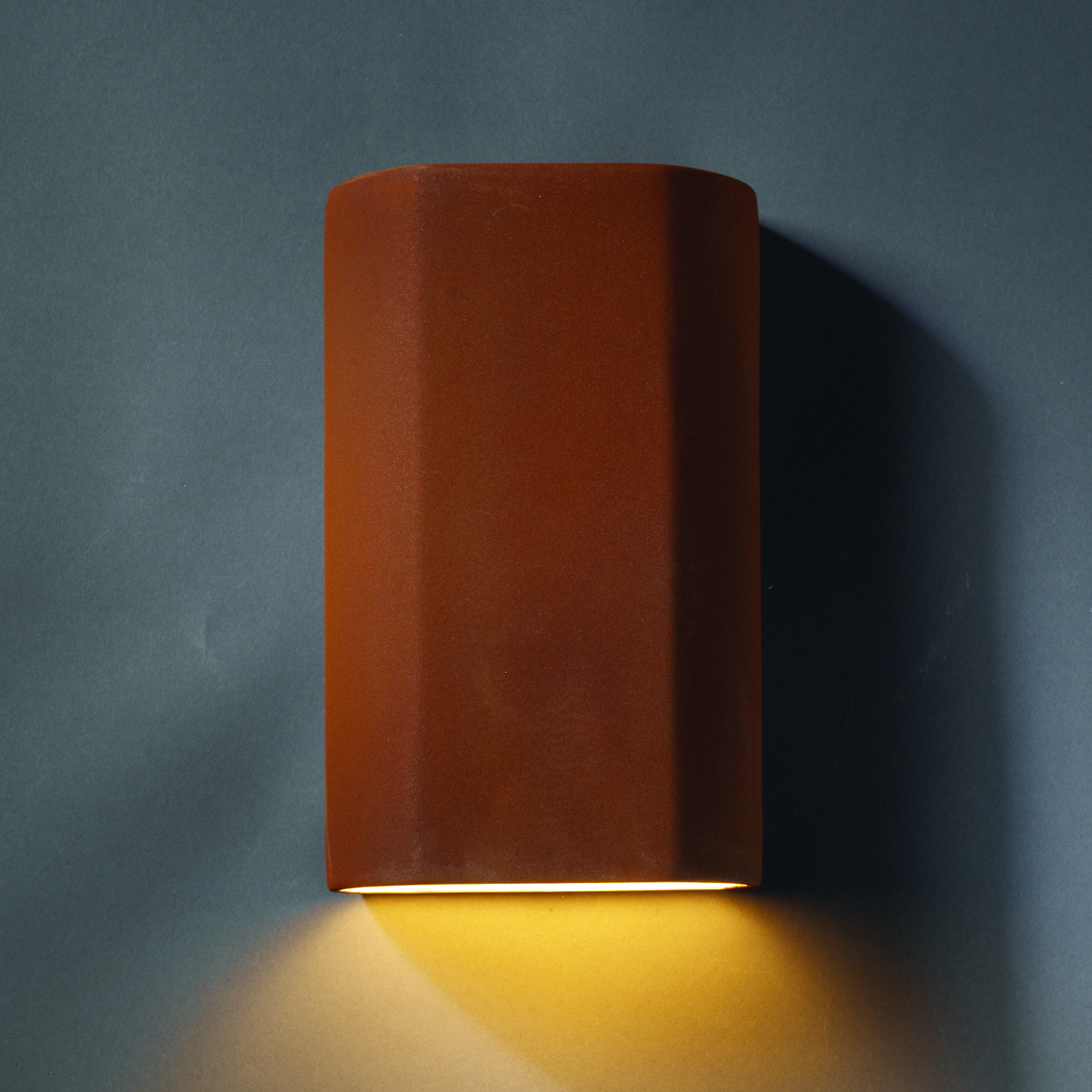 One Light Wall Sconce From The Ambiance Collection By Justice Designs Cer 5500w Rrst