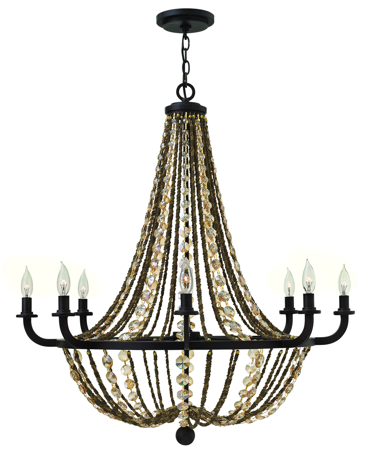 Eight Light Foyer Pendant from the Hamlet collection by Fredrick Ramond FR42868VBZ