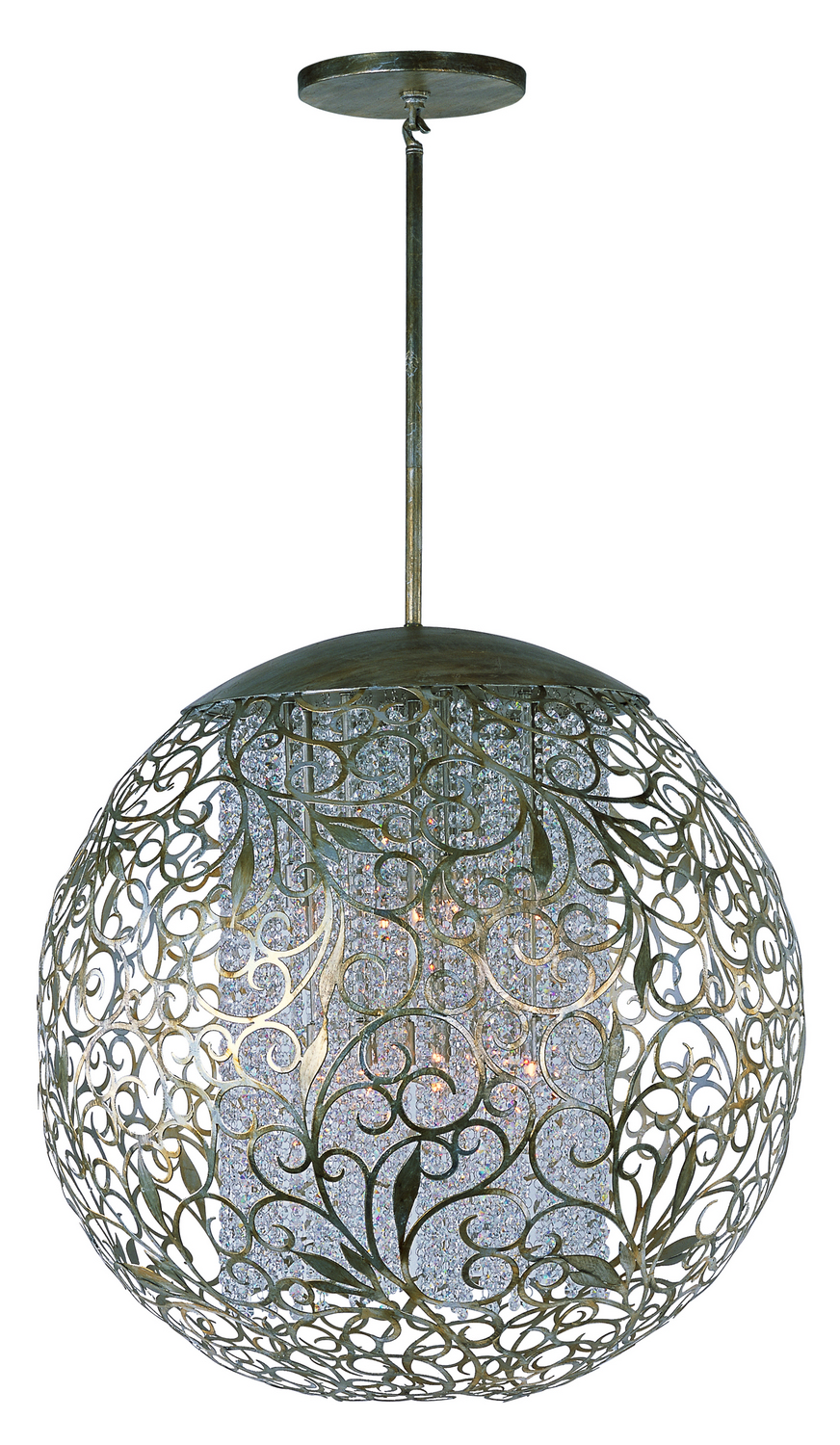 13 Light Pendant from the Arabesque collection by Maxim 24159BCGS