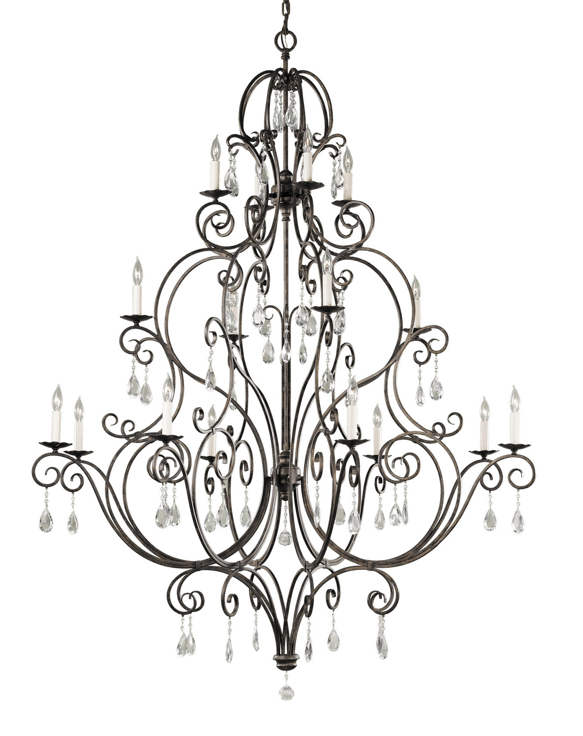 16 Light Chandelier from the Chateau collection by Feiss F2110844MBZ