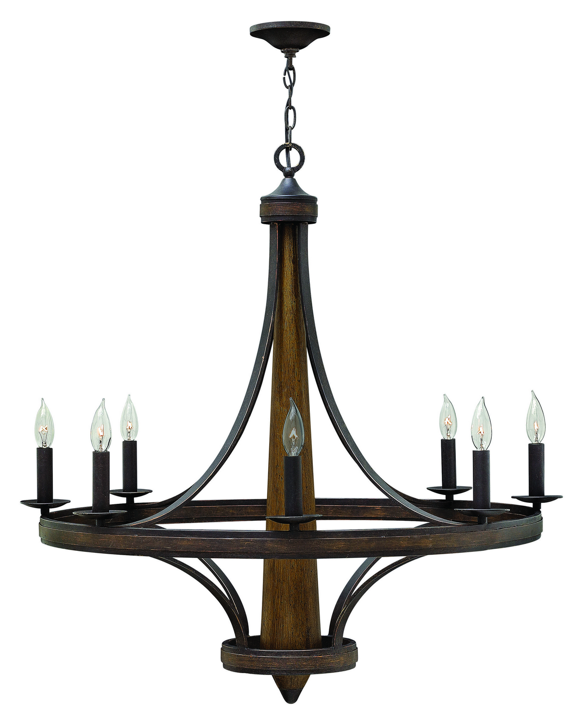 Eight Light Foyer Pendant from the Bastille collection by Fredrick Ramond FR41248VBZ
