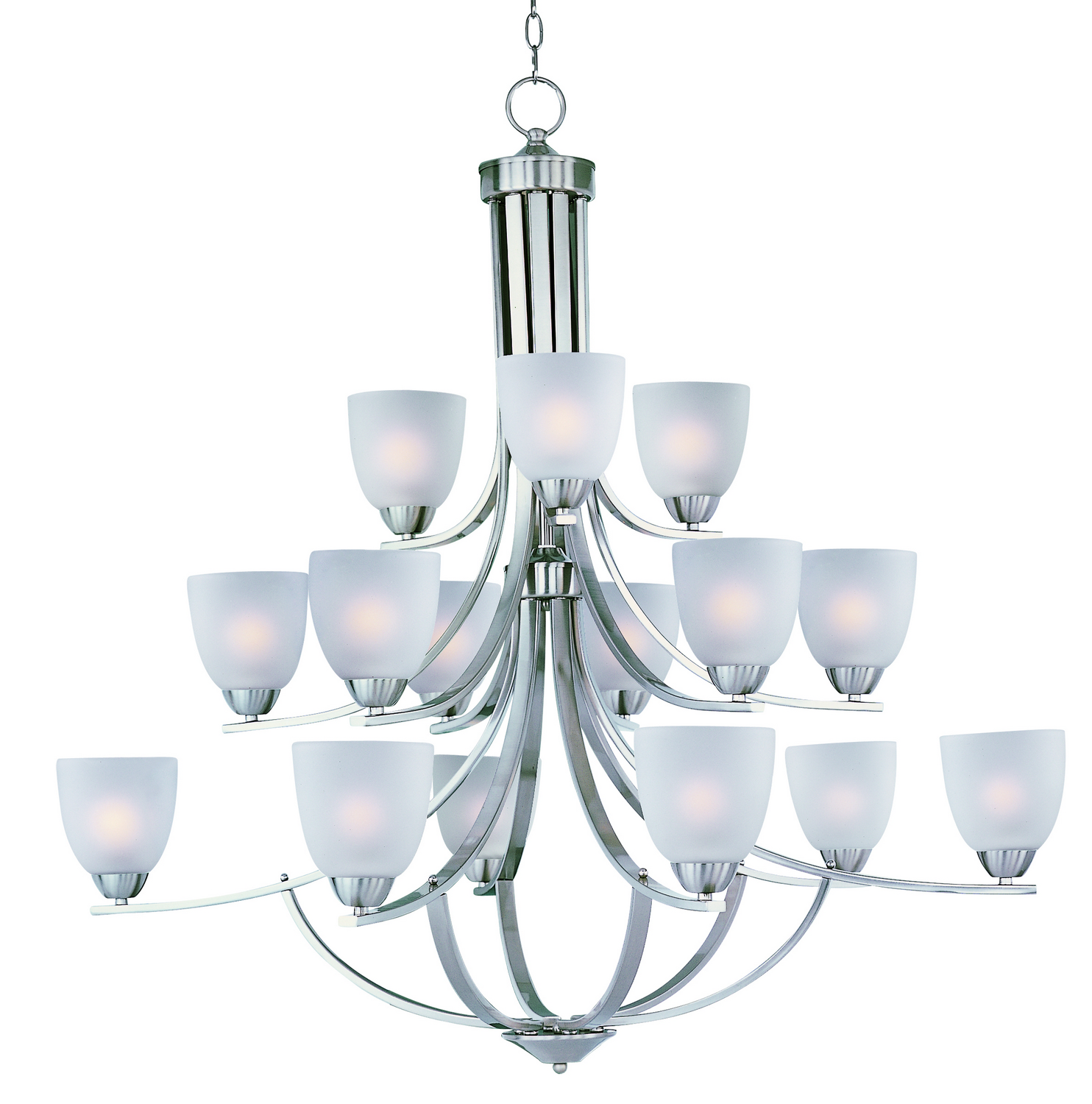 15 Light Chandelier from the Axis collection by Maxim 11228FTSN