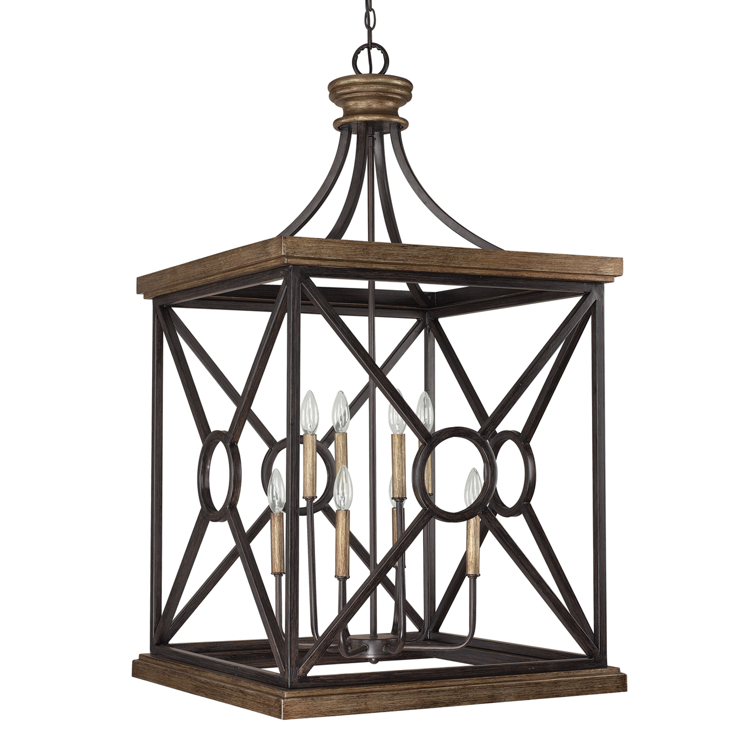 Eight Light Foyer from the Foyer collection by Capital Lighting 4503SY